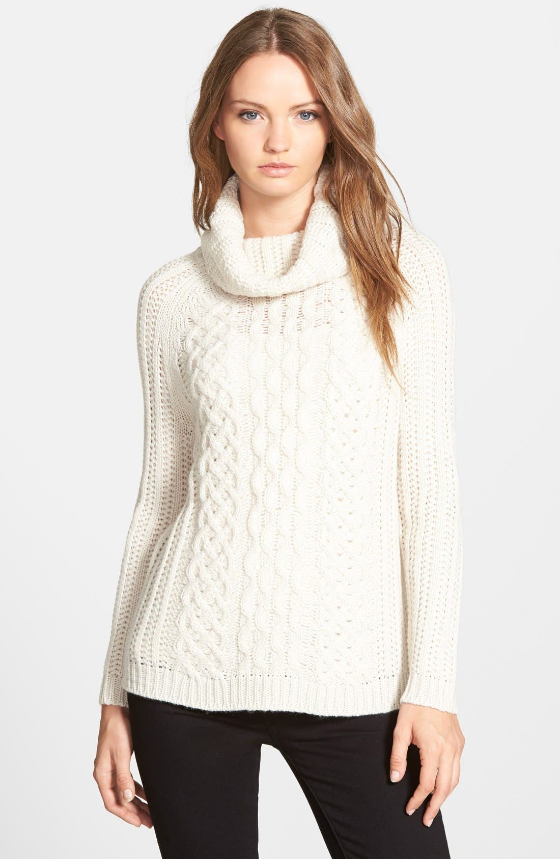 Main Image - cupcakes and cashmere 'Sleepy Hollow' Turtleneck Sweater