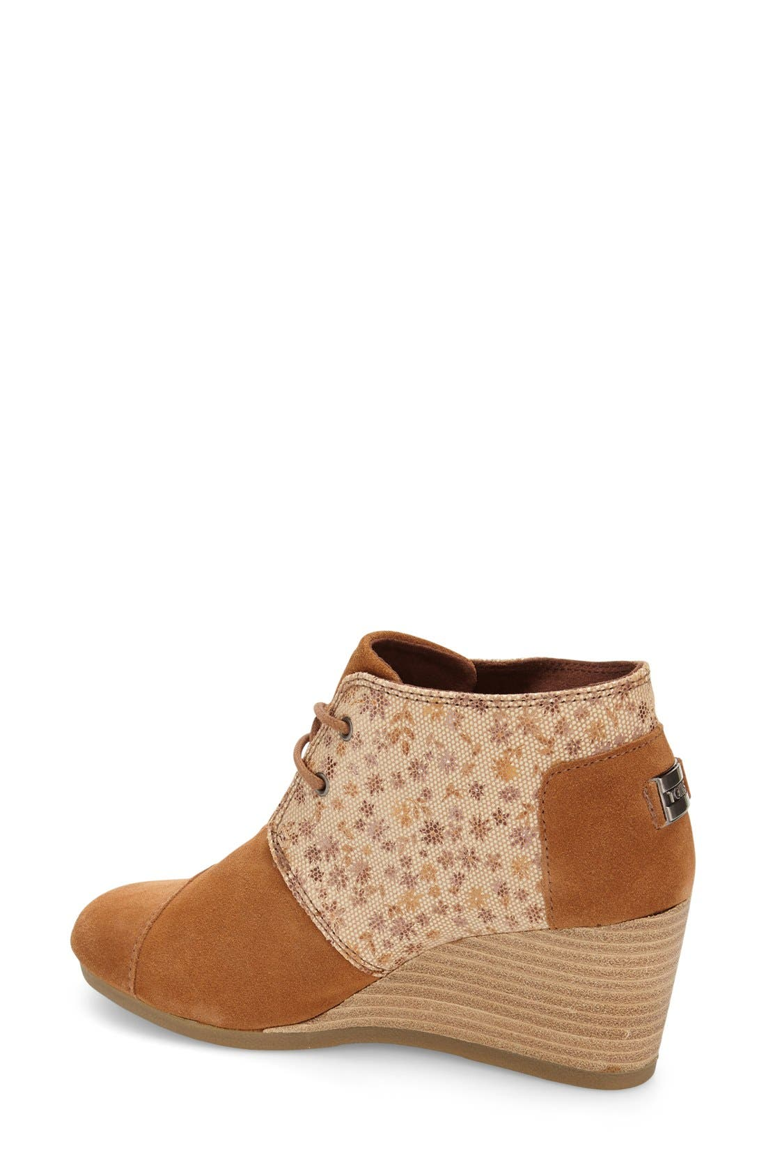 Alternate Image 2  - TOMS 'Desert' Printed Wedge Bootie (Women)