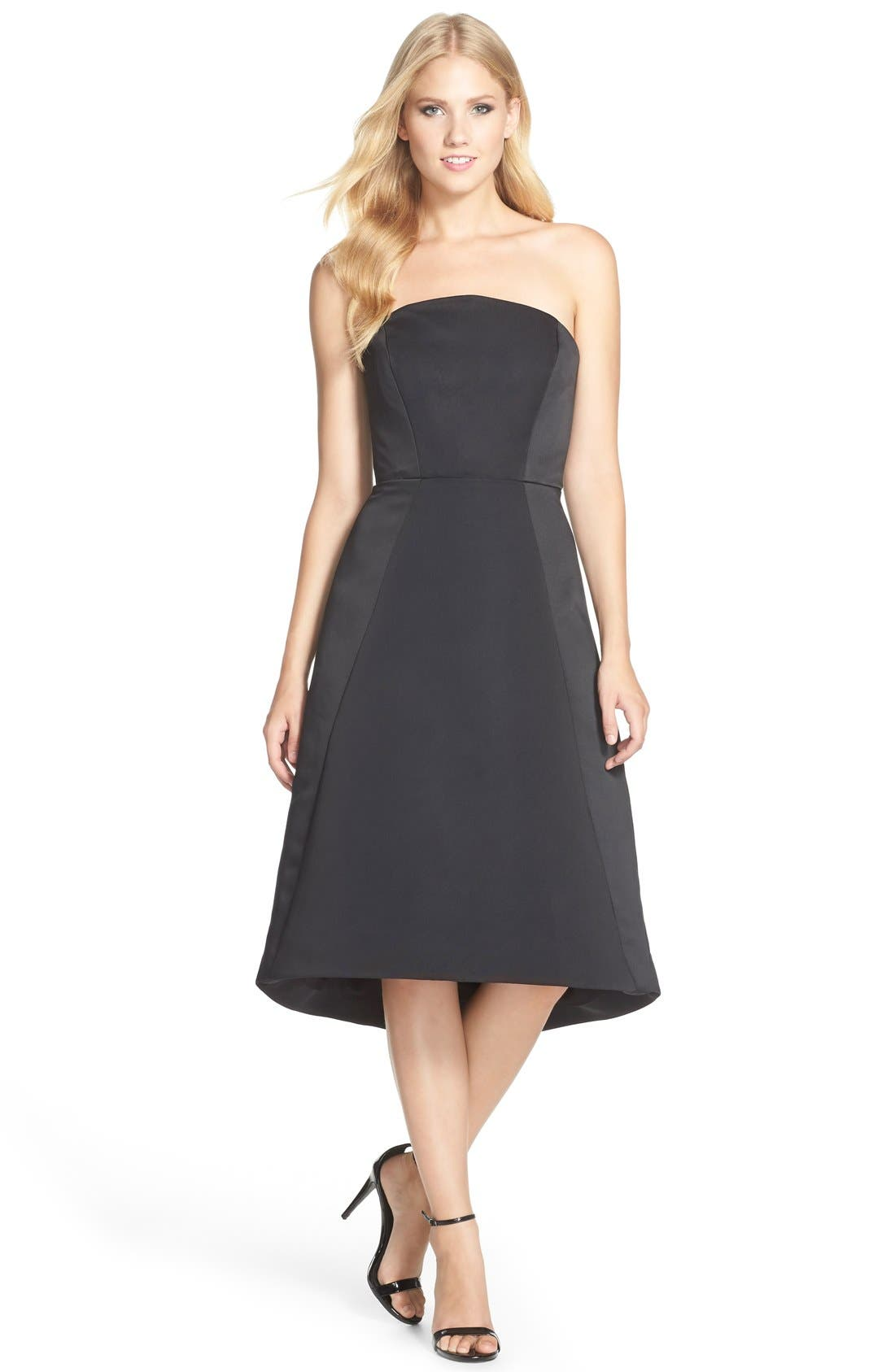 Alternate Image 3  - HalstonHeritage Strapless Satin Fit & Flare Dress