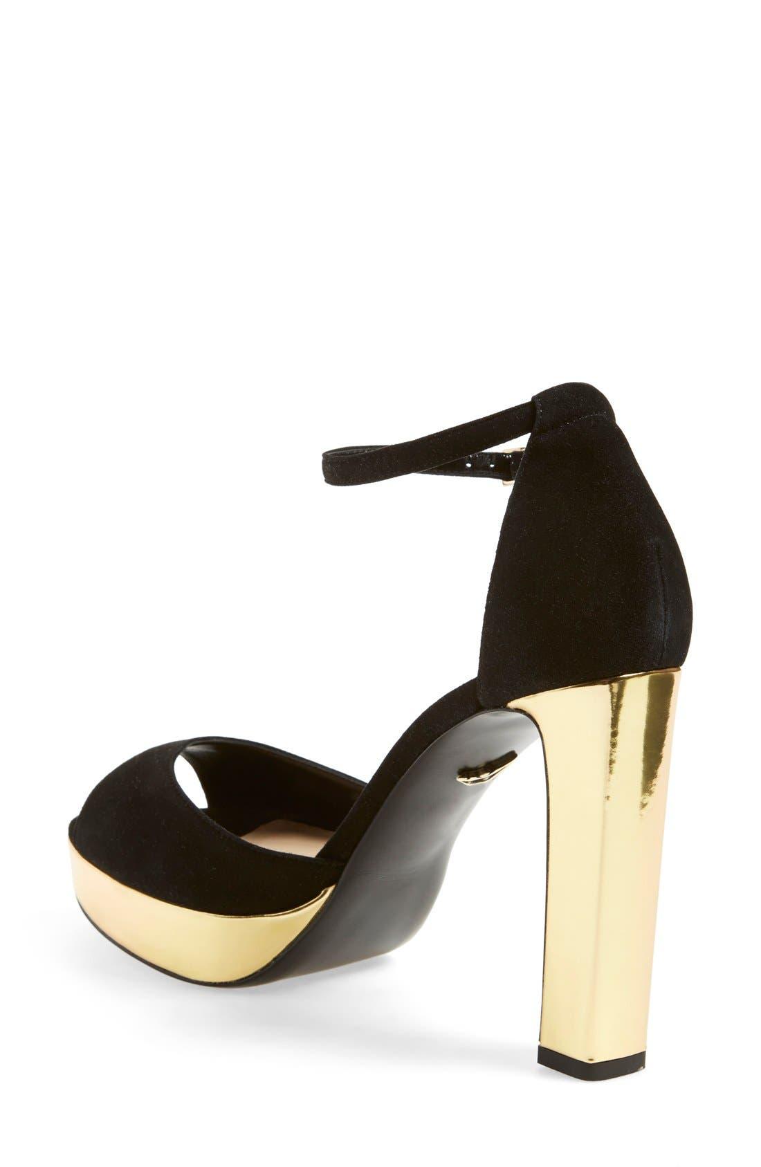 Alternate Image 2  - Diane von Furstenberg 'Daria' Platform Peep Toe Sandal (Women)