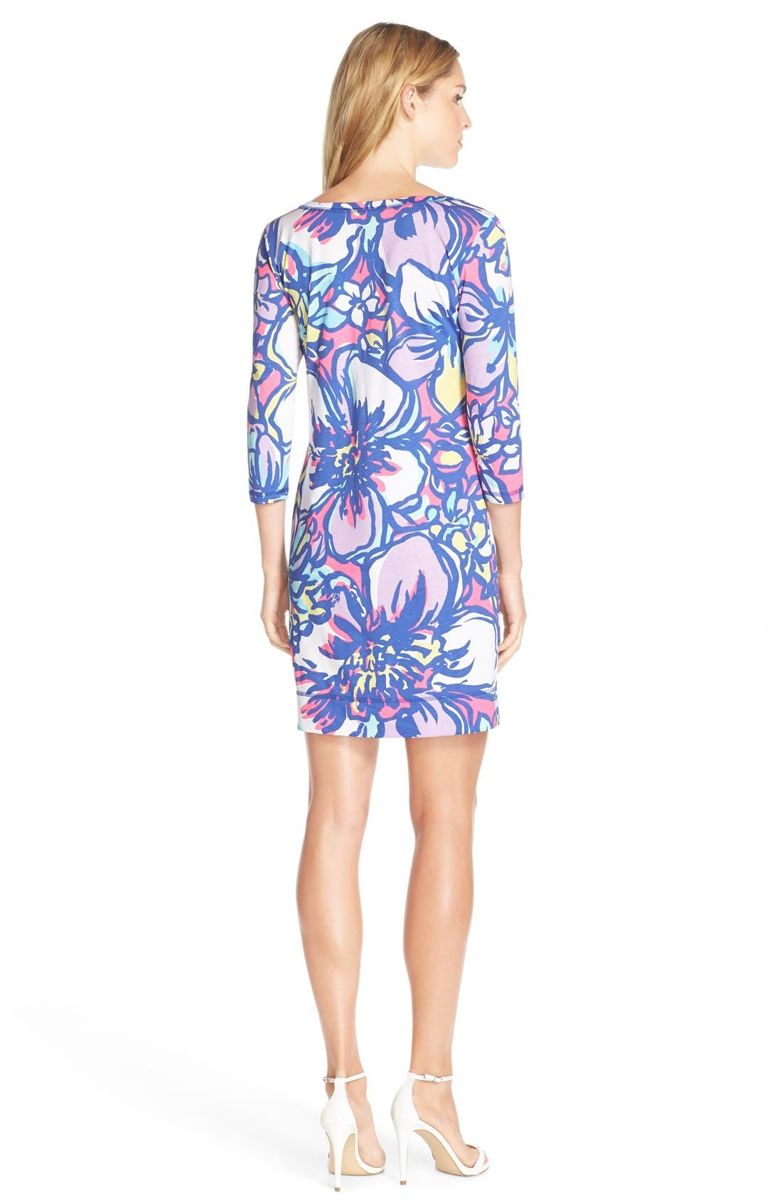 Alternate Image 2  - Lilly Pulitzer® 'Palmetto' Print Button Front Pima Cotton T-Shirtdress