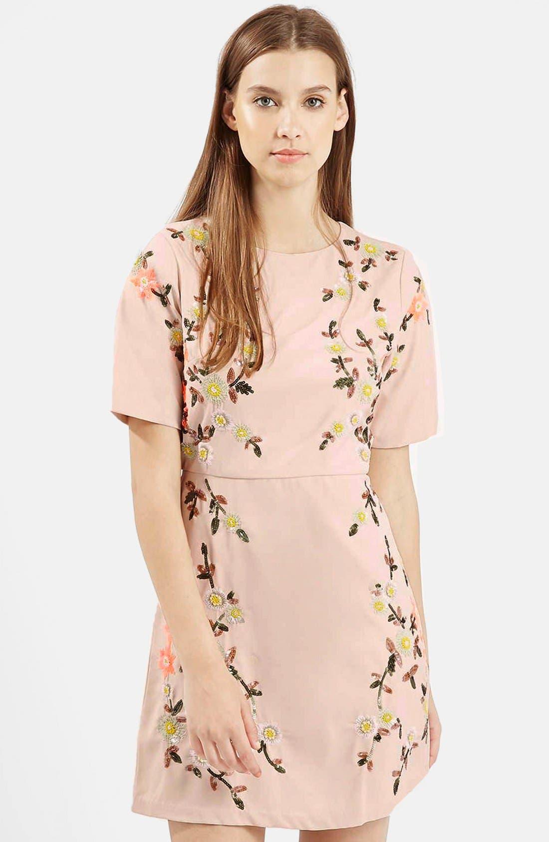 Alternate Image 5  - Topshop Embellished A-Line Dress