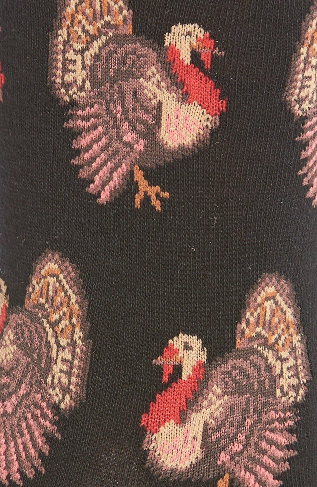 Alternate Image 2  - Hot Sox'Thanksgiving Turkeys' Crew Socks
