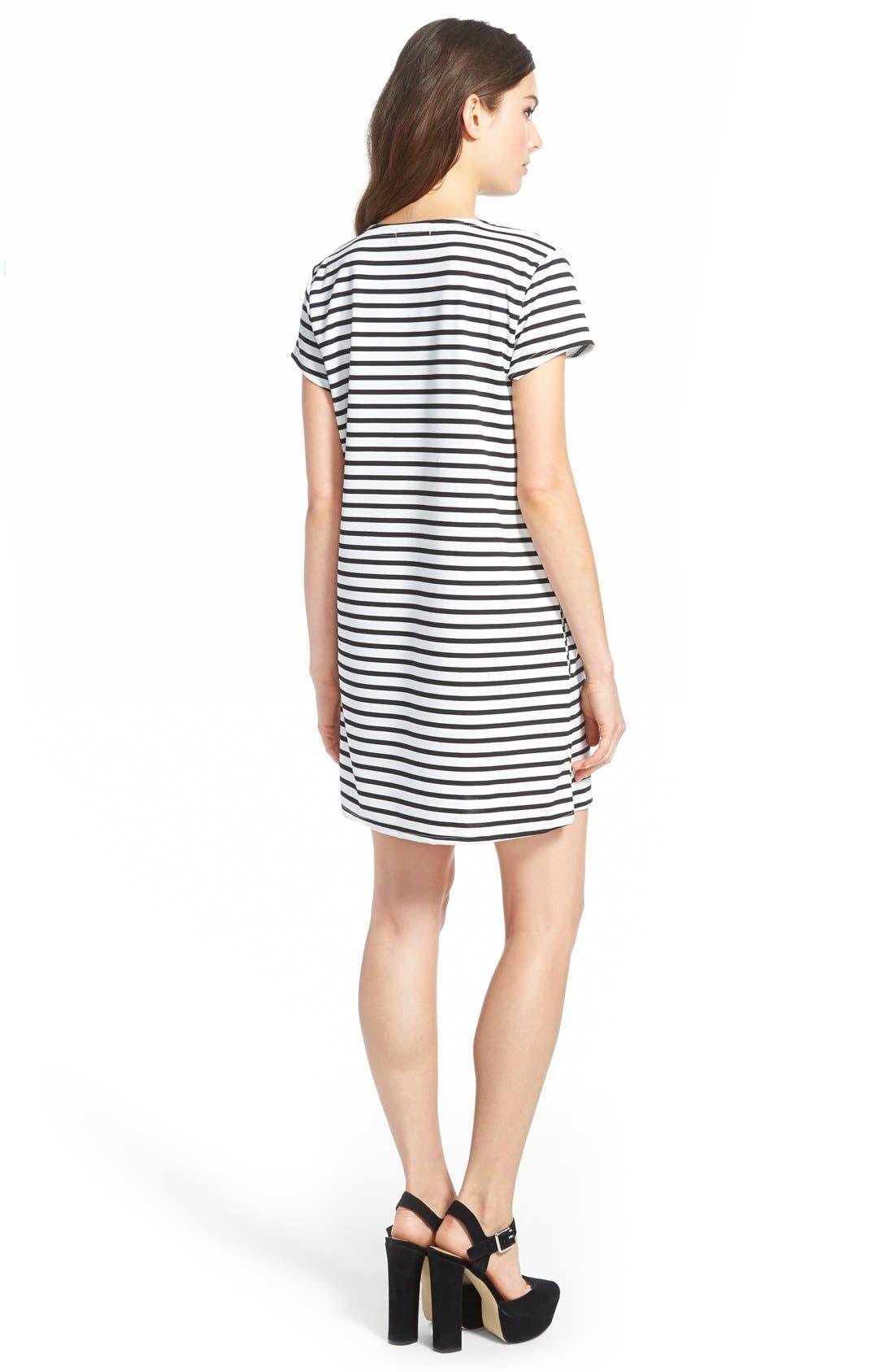 Alternate Image 2  - MissguidedStripe Shift Dress