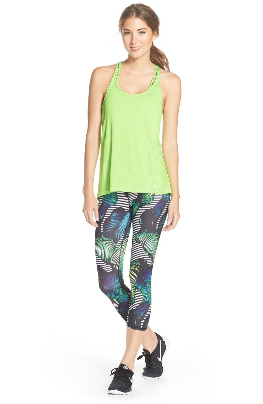 Alternate Image 3  - Betsey Johnson Print Crop Leggings