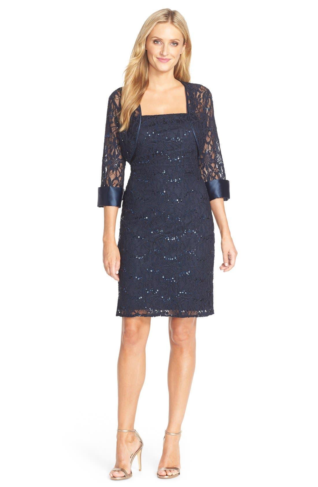 Alternate Image 4  - JS Collections Embellished Lace Dress & Jacket