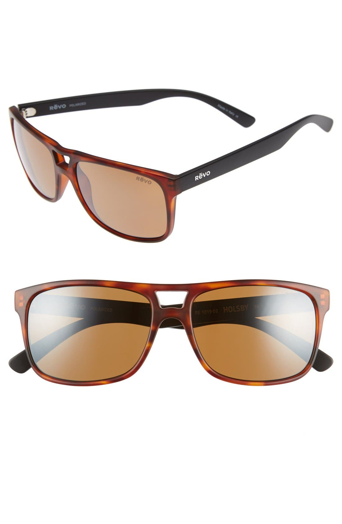REVO 'Holsby' 58mm Polarized Sunglasses