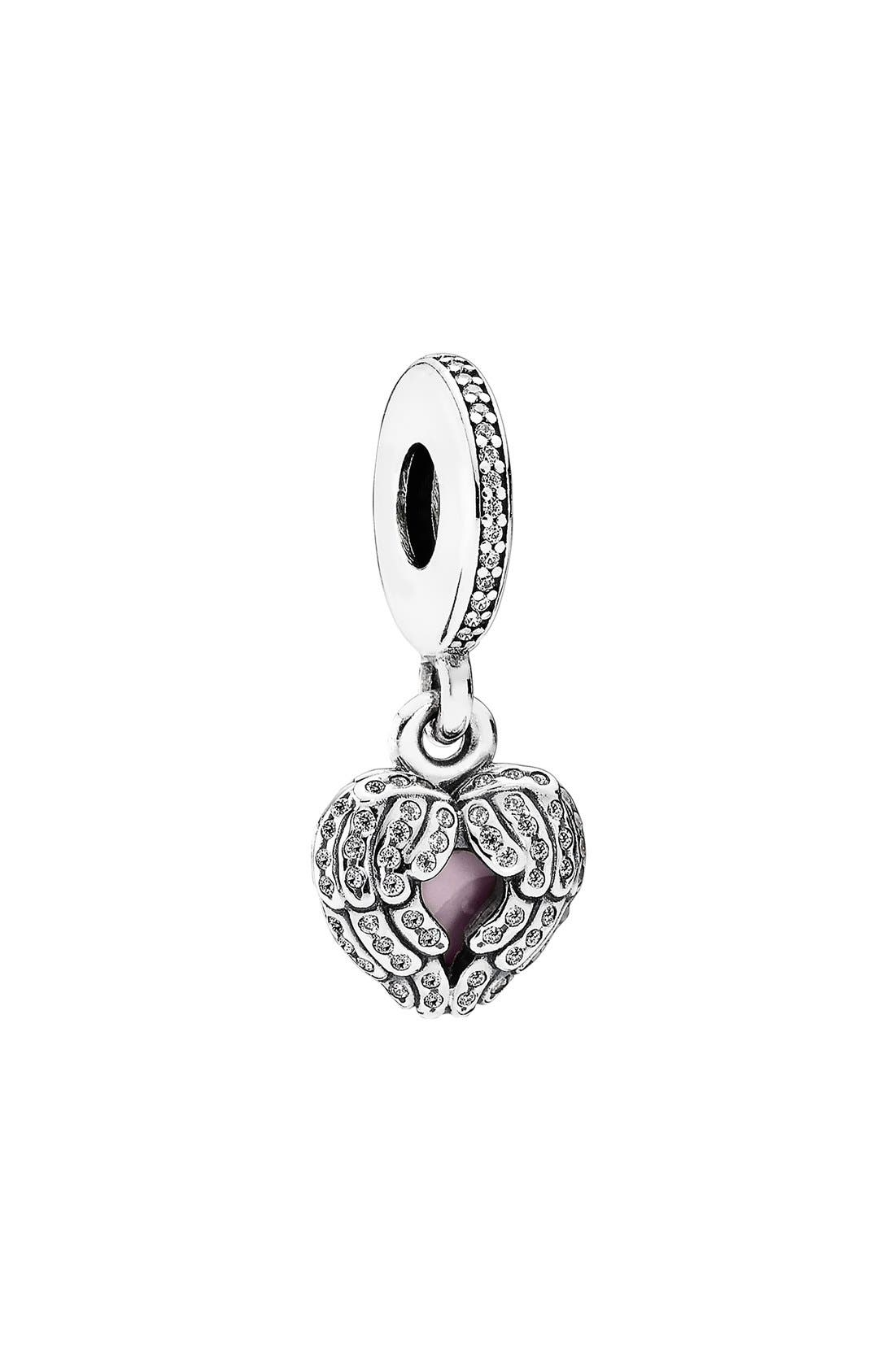 Alternate Image 1 Selected - PANDORA 'Angel Wings' Dangle Charm