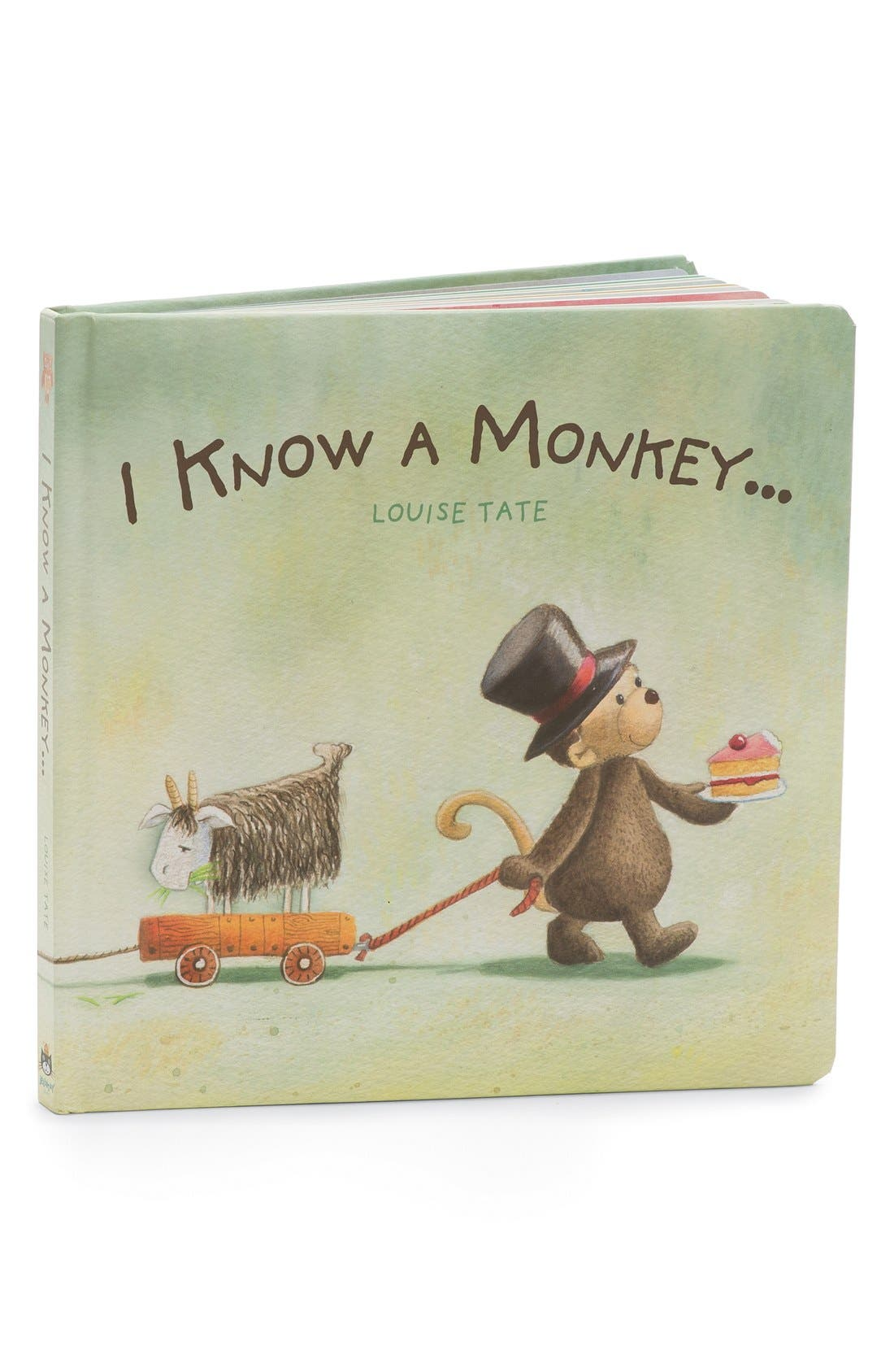 JELLYCAT 'I Know a Monkey' Board Book