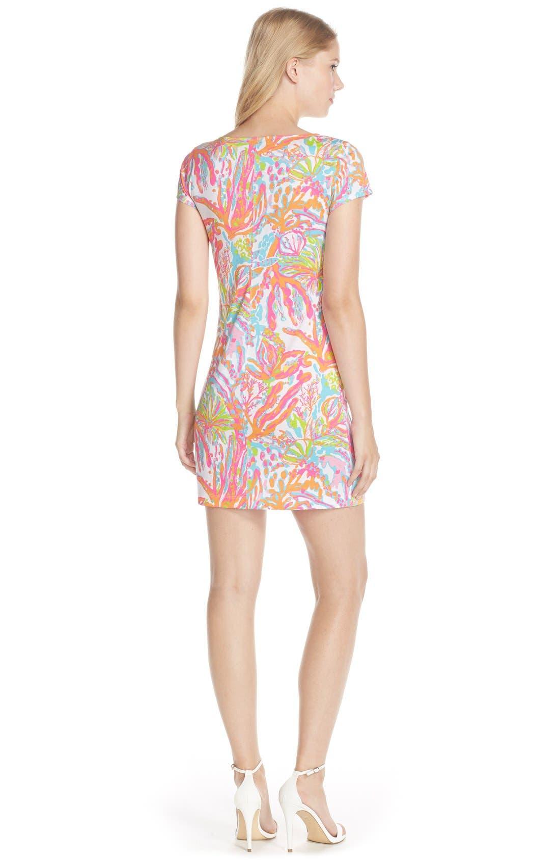 Alternate Image 2  - Lilly Pulitzer® 'Brewster' Contrast Trim Print T-Shirt Dress