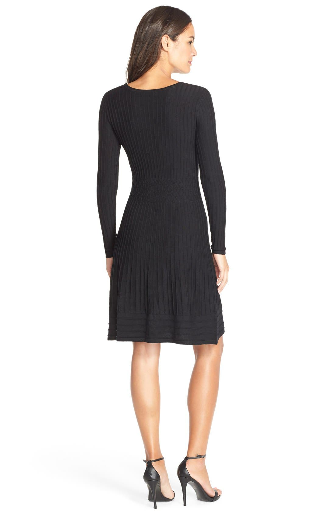 Alternate Image 2  - Adrianna Papell Sweater Fit & Flare Dress