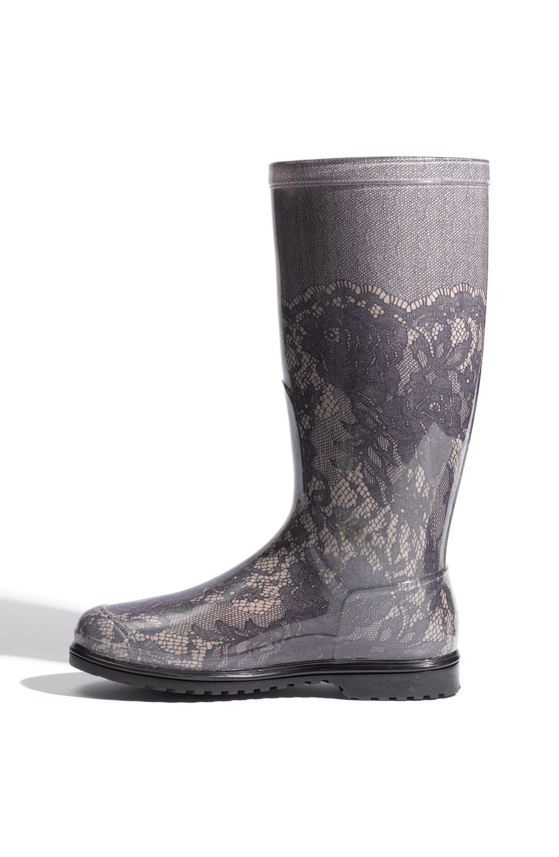Alternate Image 2  - Valentino Lace Print Rain Boot (Women)