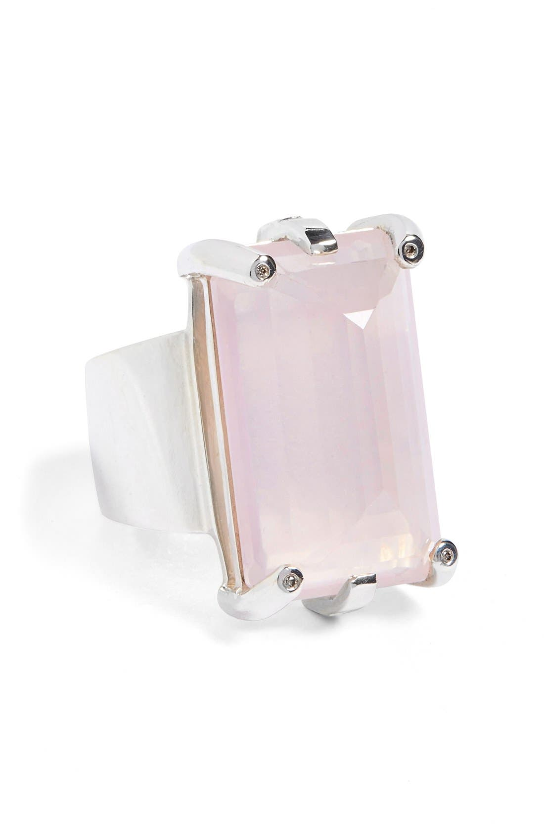 ANNA SHEFFIELD 'Eshel' Rose Quartz & Champagne Diamond
