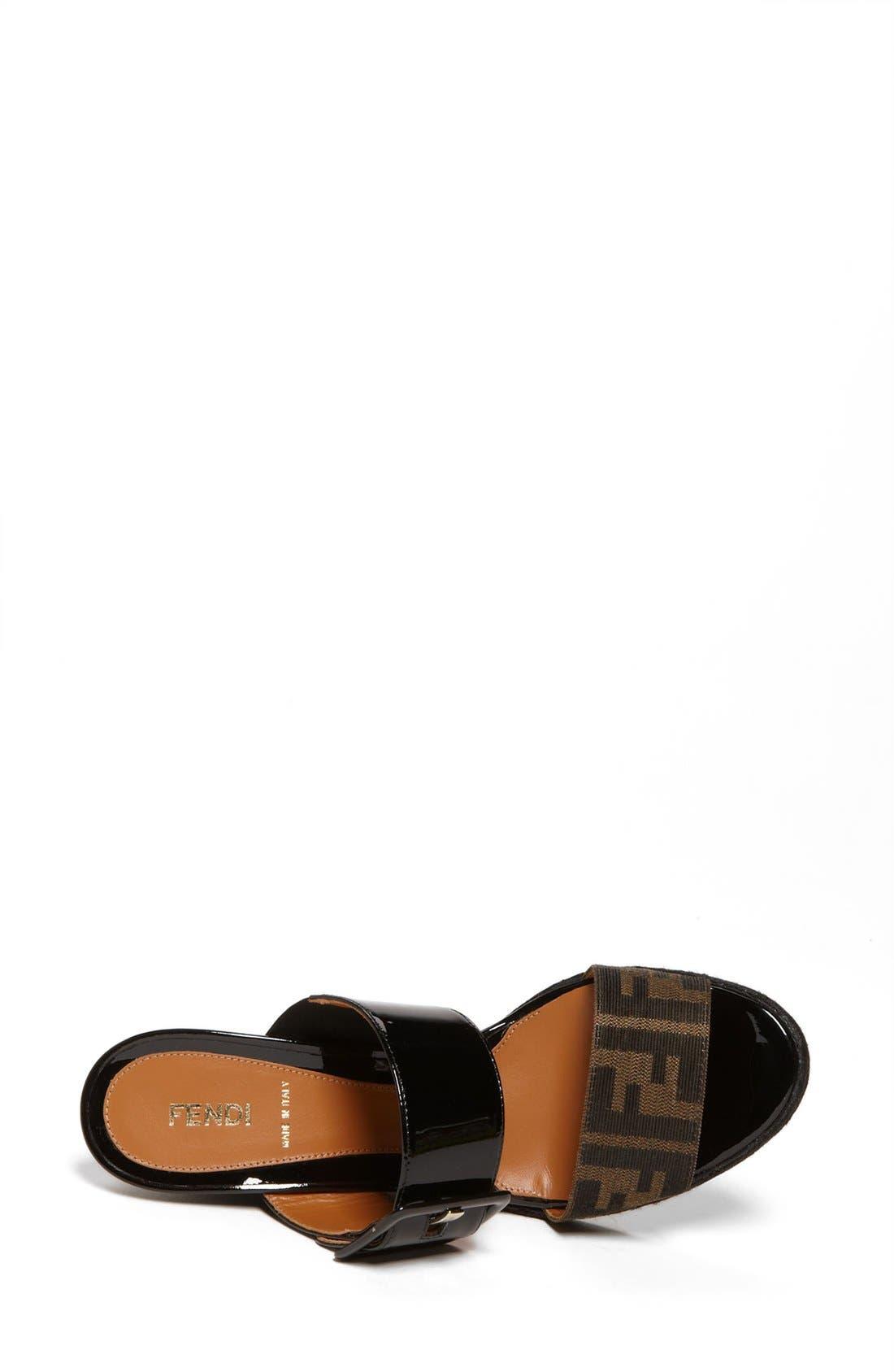 Alternate Image 6  - Fendi 'Vernis' Wedge Sandal (Women)