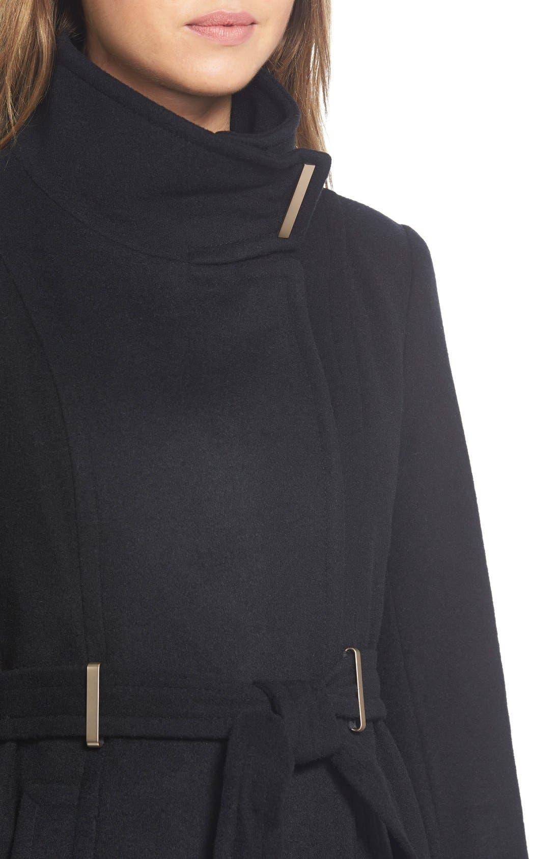 Alternate Image 5  - T Tahari'India' Wool Blend Wrap Coat