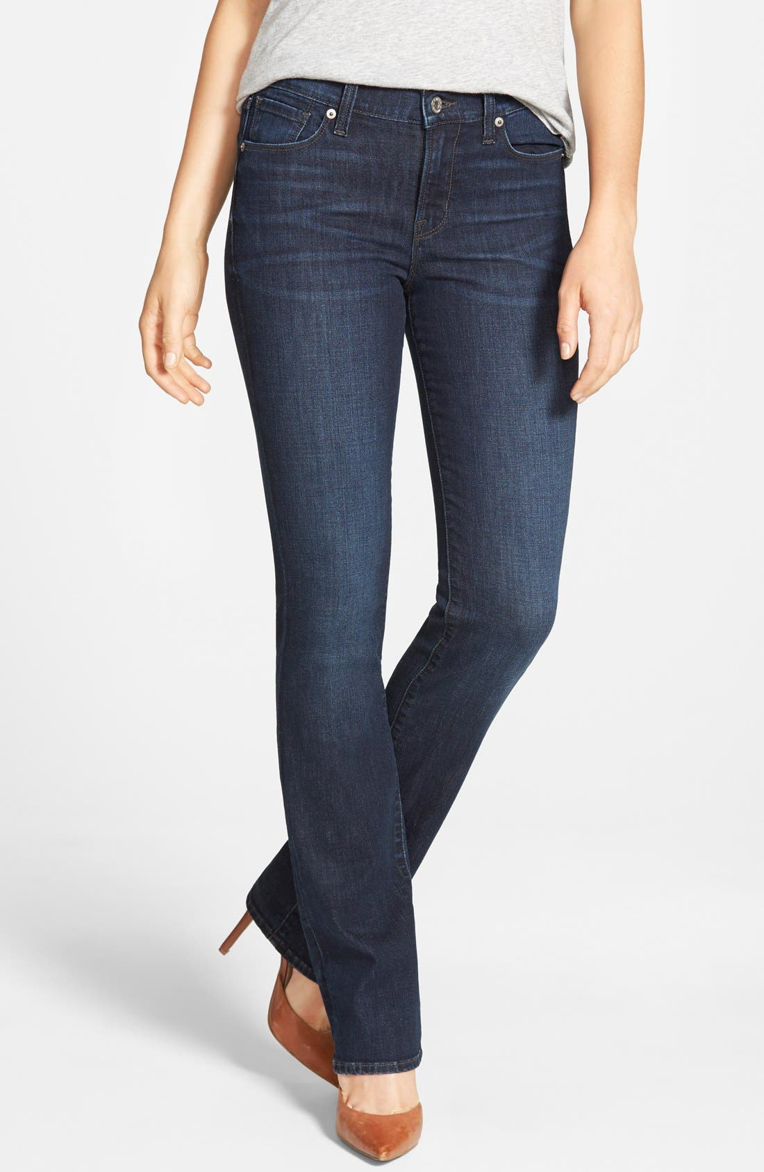 Alternate Image 1 Selected - Lucky Brand 'Brooke' Stretch Bootcut Jeans (Serpantine)