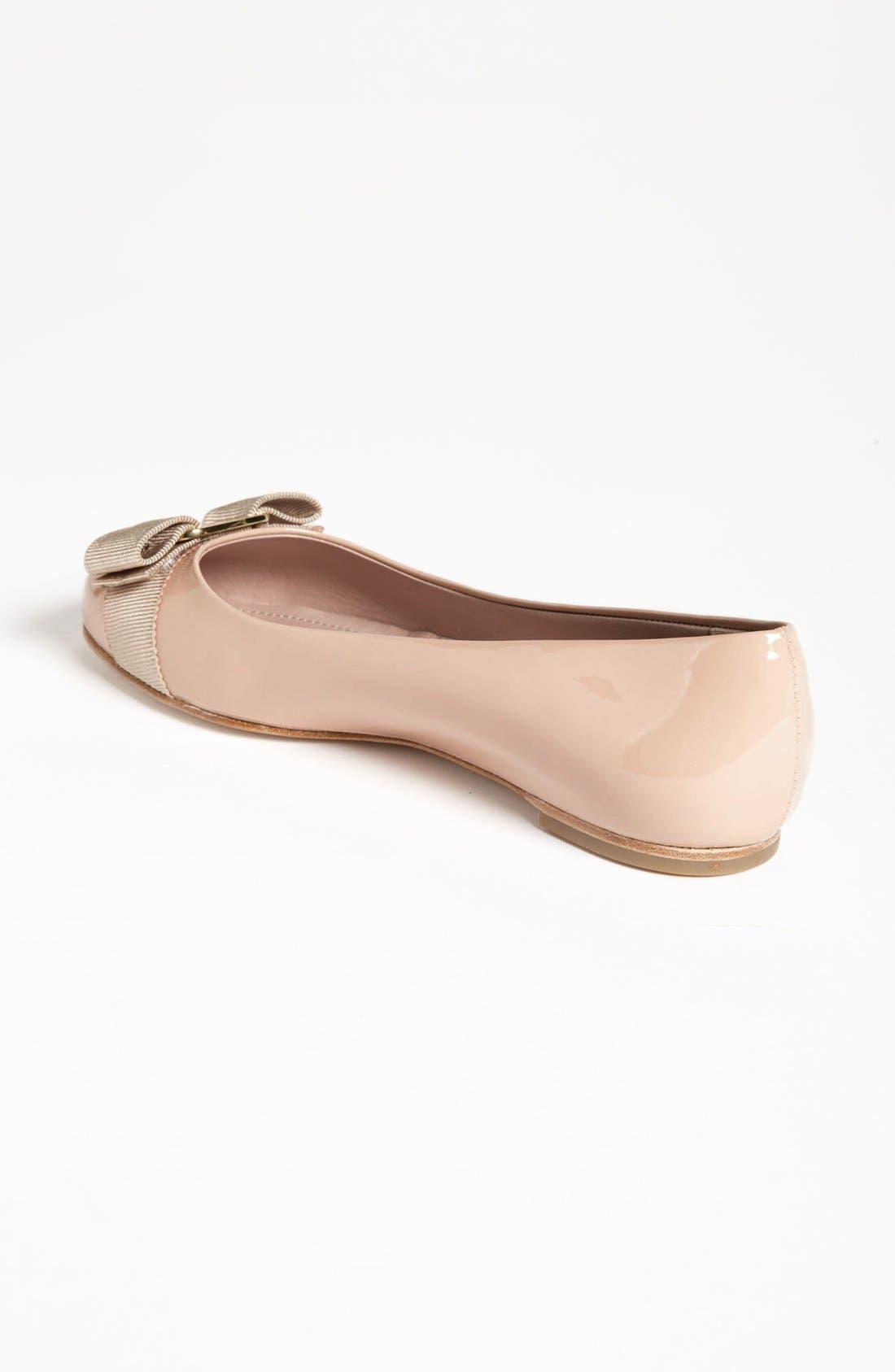 Alternate Image 2  - Salvatore Ferragamo 'Varina' Leather Flat (Women)