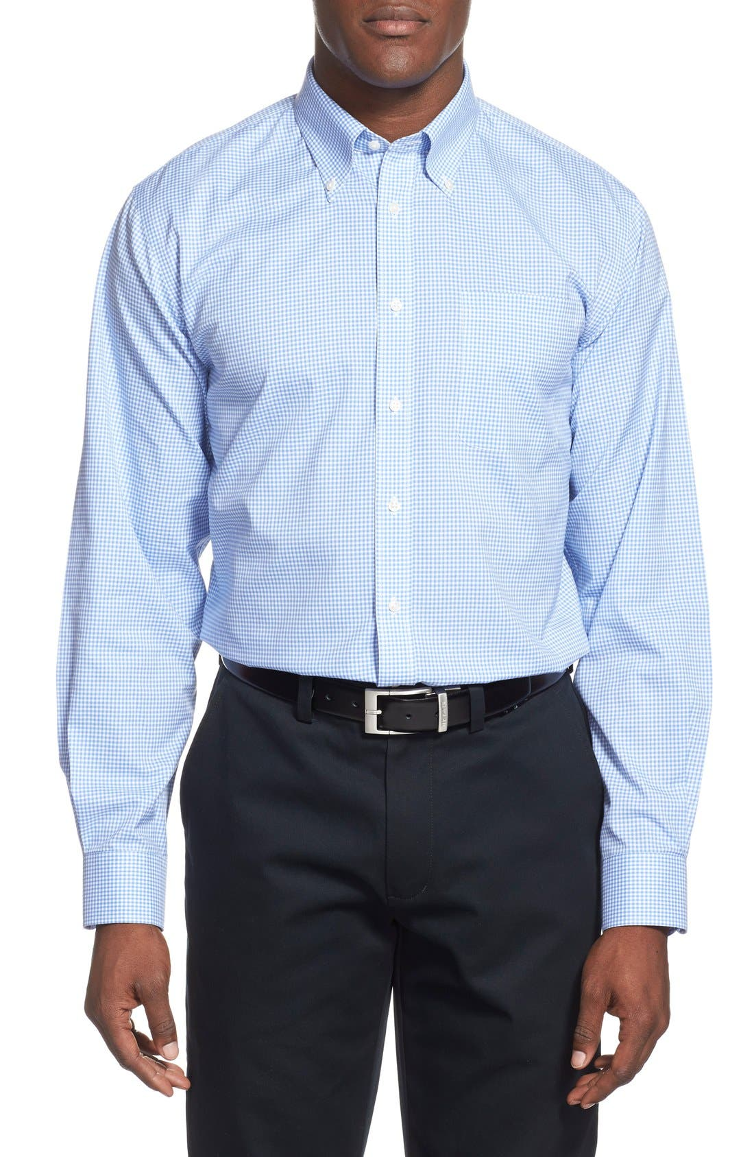 Alternate Image 2  - Nordstrom Men's Shop Smartcare™ Traditional Fit Gingham Dress Shirt