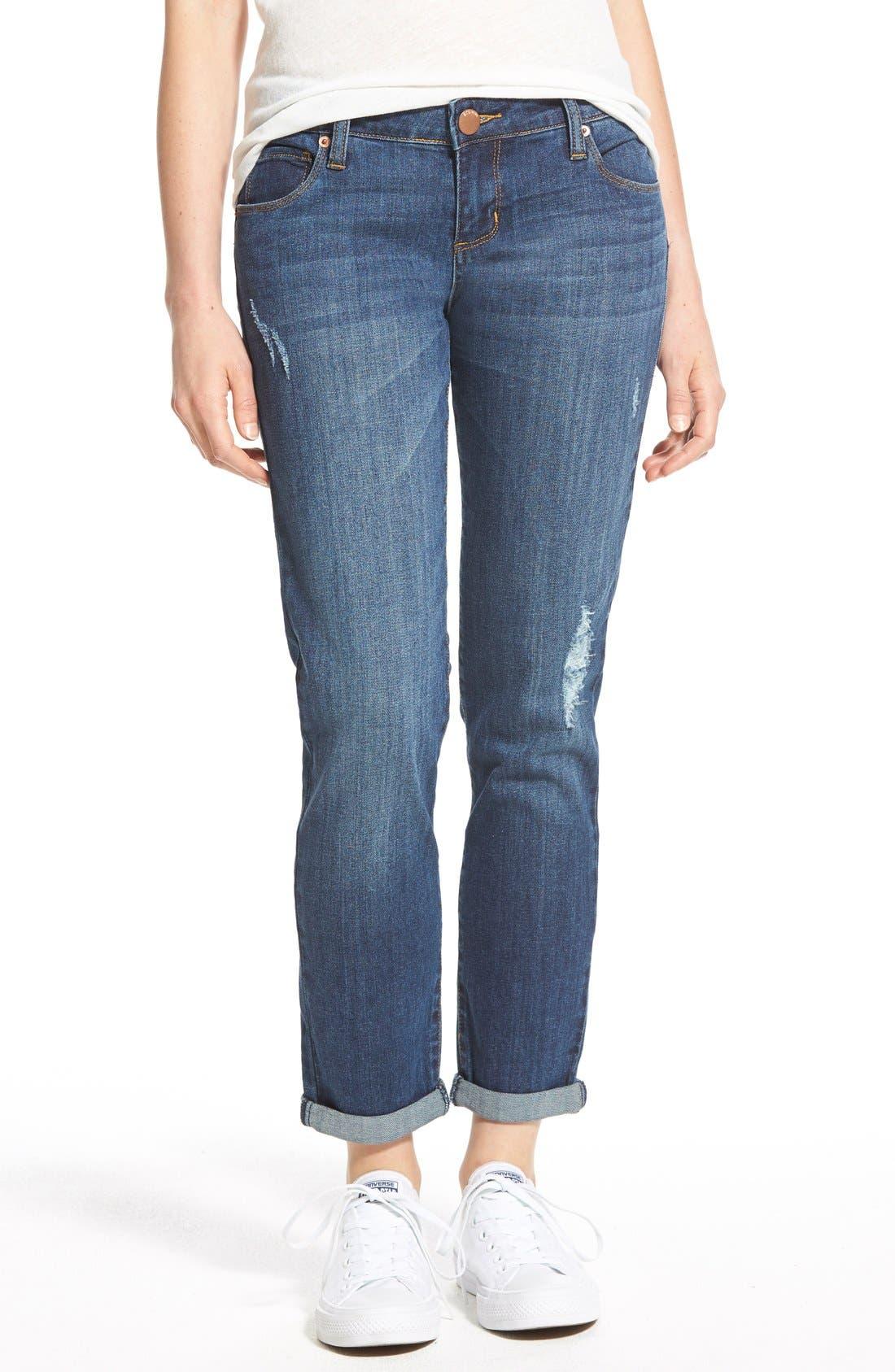 Alternate Image 1 Selected - STSBlue 'Joey' Low Rise Boyfriend Jeans (Big Bear)
