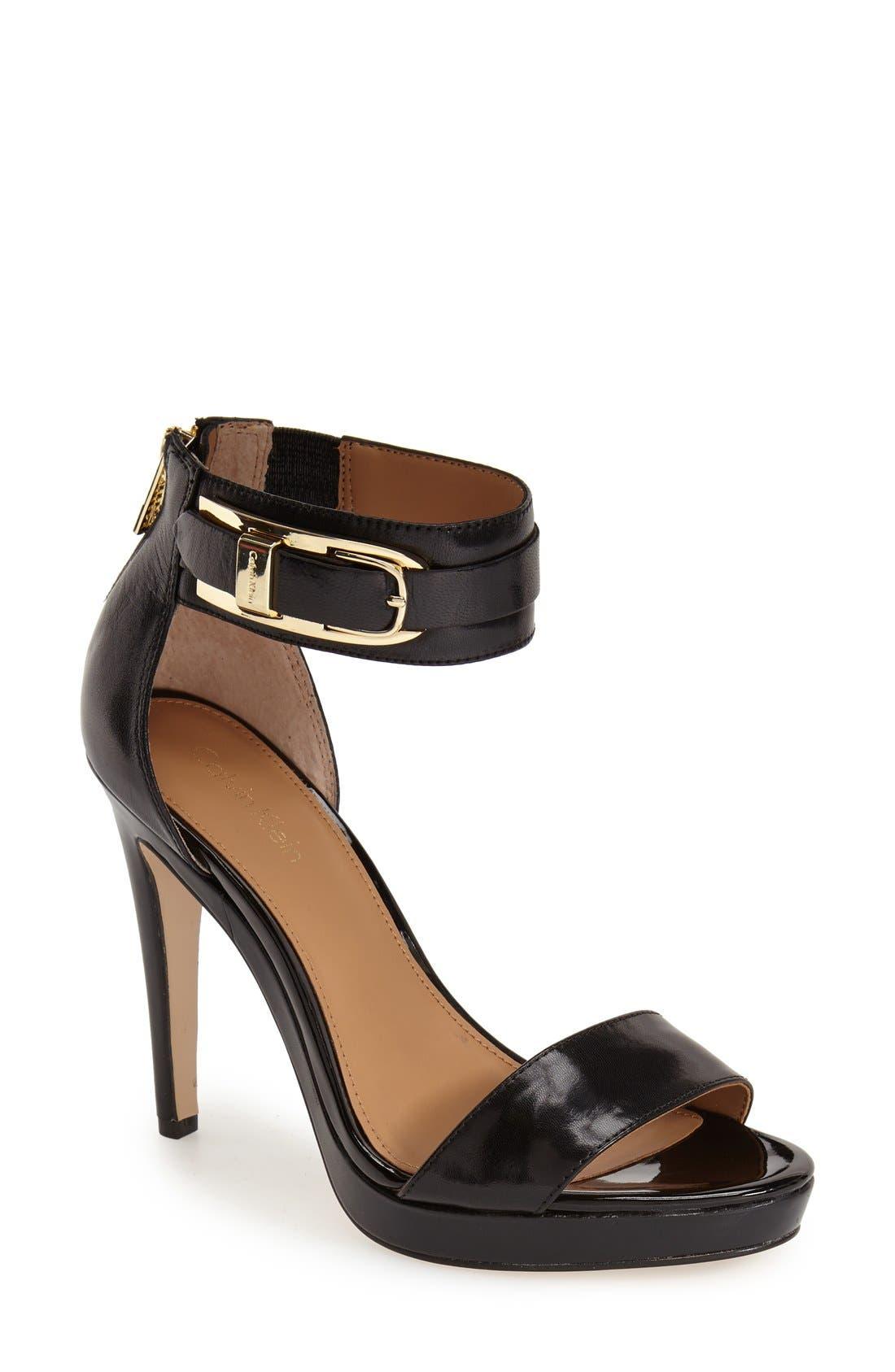Alternate Image 1 Selected - Calvin Klein 'Panthea' Ankle Strap Sandal (Women)