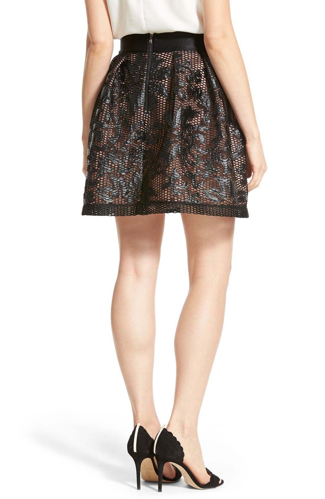 Alternate Image 2  - Chelsea28 Appliqué Skirt