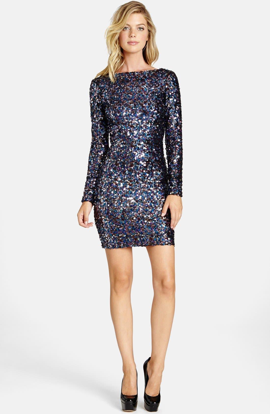 Alternate Image 3  - Dress the Population 'Lola City Lights' Backless Sequin Minidress