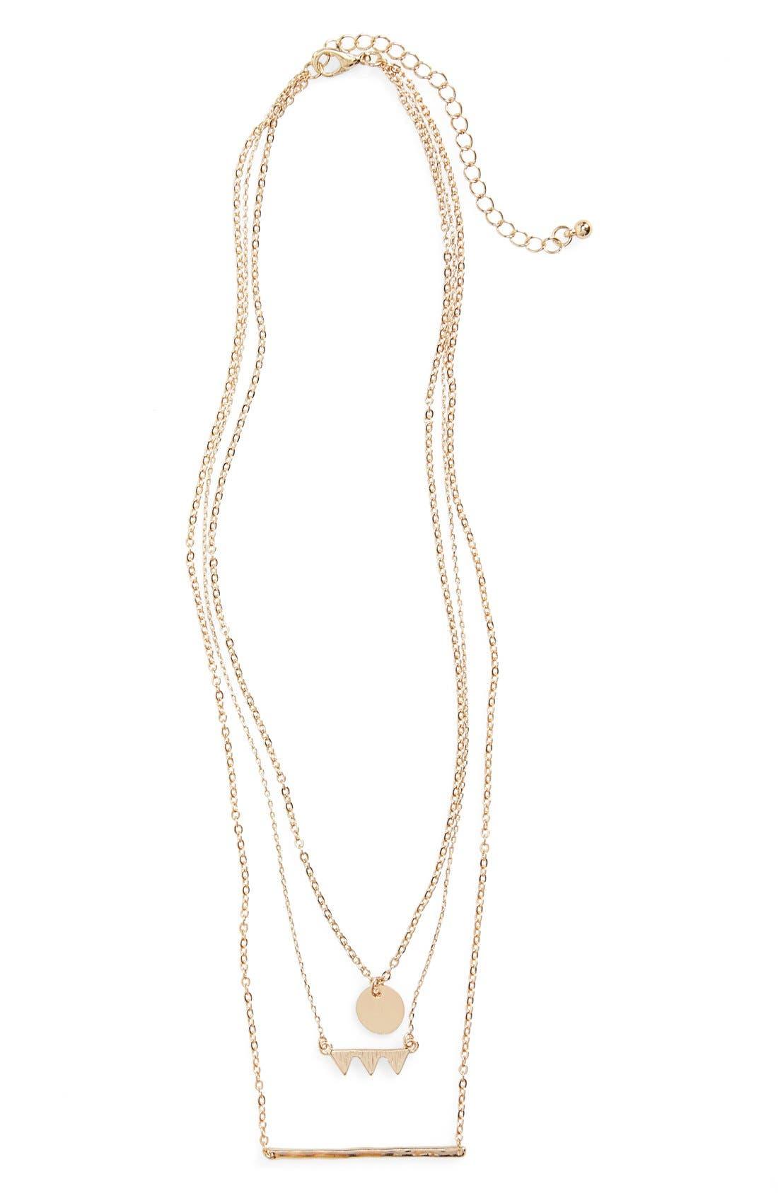 Main Image - BP. Dainty Geo Charm Necklace