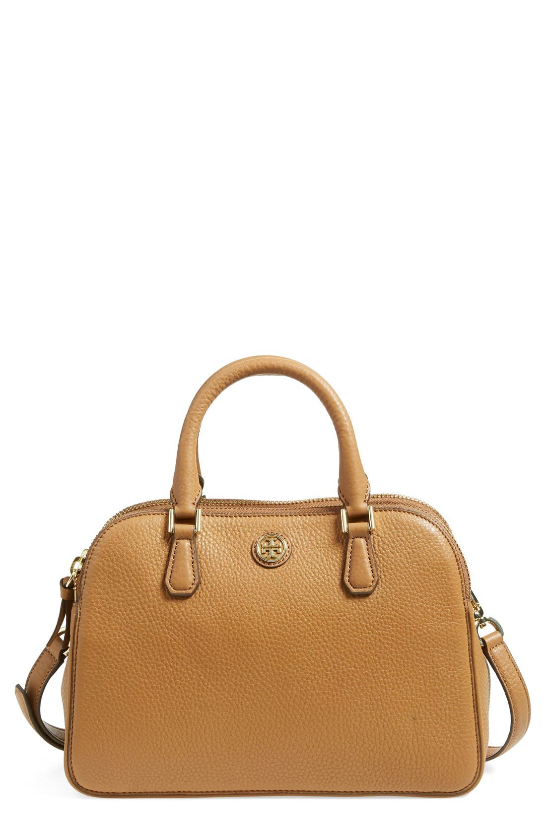 Alternate Image 1 Selected - Tory Burch 'Small Robinson' Pebbled Leather Satchel