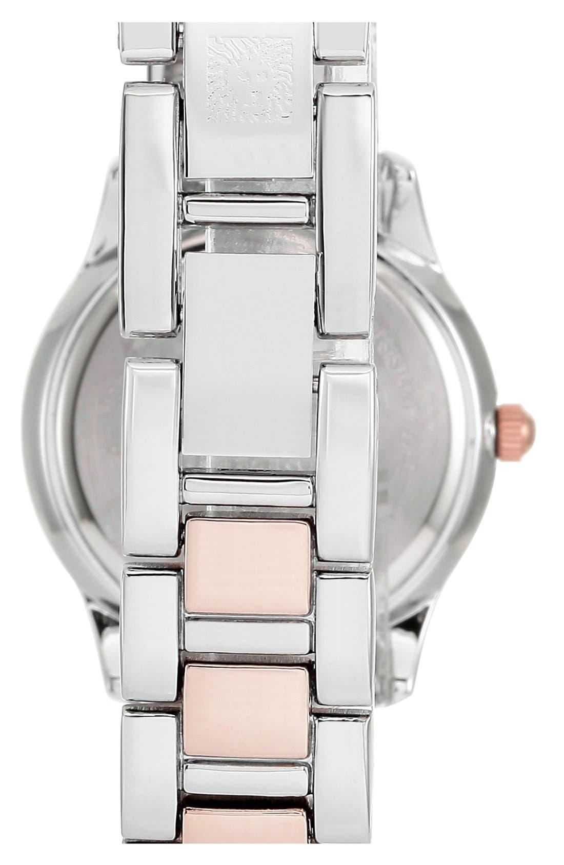 Alternate Image 2  - Anne Klein Round Bracelet Watch, 28mm