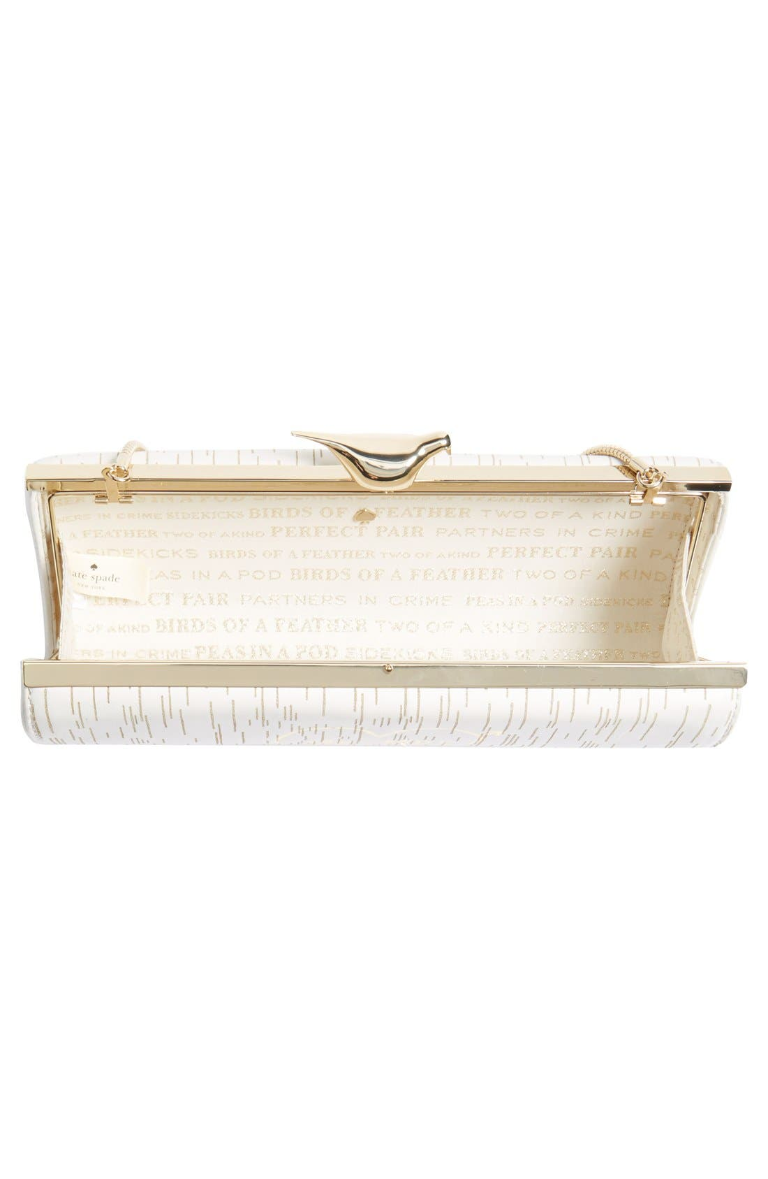 Alternate Image 4  - kate spade new york 'wedding belles - mr. & mrs.' clutch