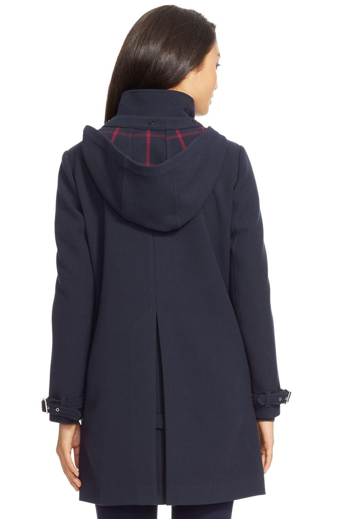 Alternate Image 2  - Lauren Ralph Lauren Crepe A-Line Coat