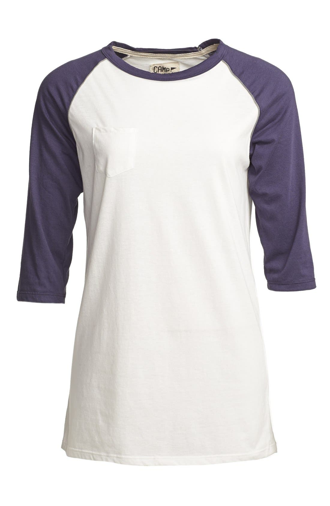 Alternate Image 1 Selected - CAMP Collection 'Rookie' Baseball Tee (Women)
