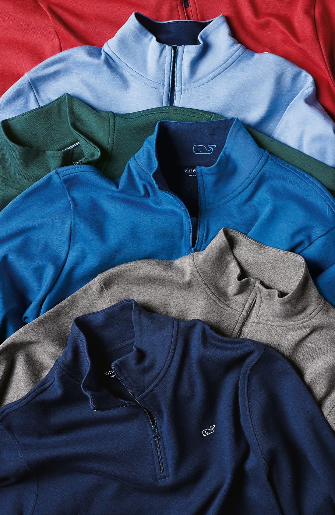 Alternate Image 4  - Vineyard Vines Quarter Zip Cotton Jersey Sweatshirt