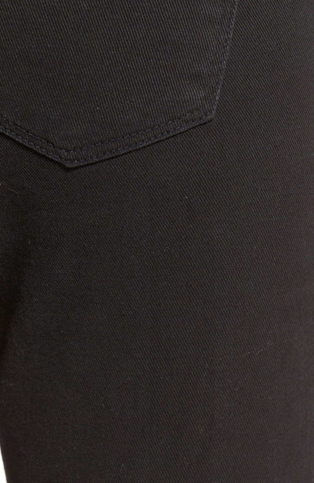 Alternate Image 6  - STSBlue 'Emma' Distressed High Rise Ankle Skinny Jeans (Black)