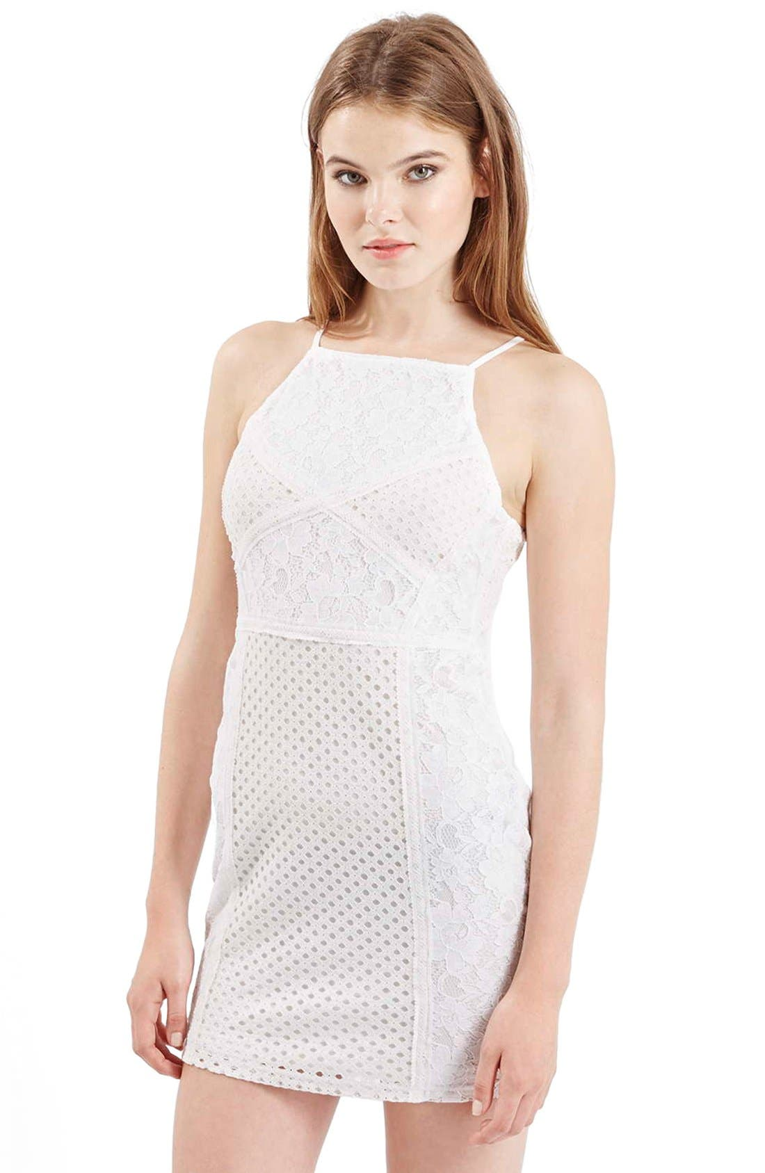 Main Image - TopshopLace Body-Con Dress (Petite)