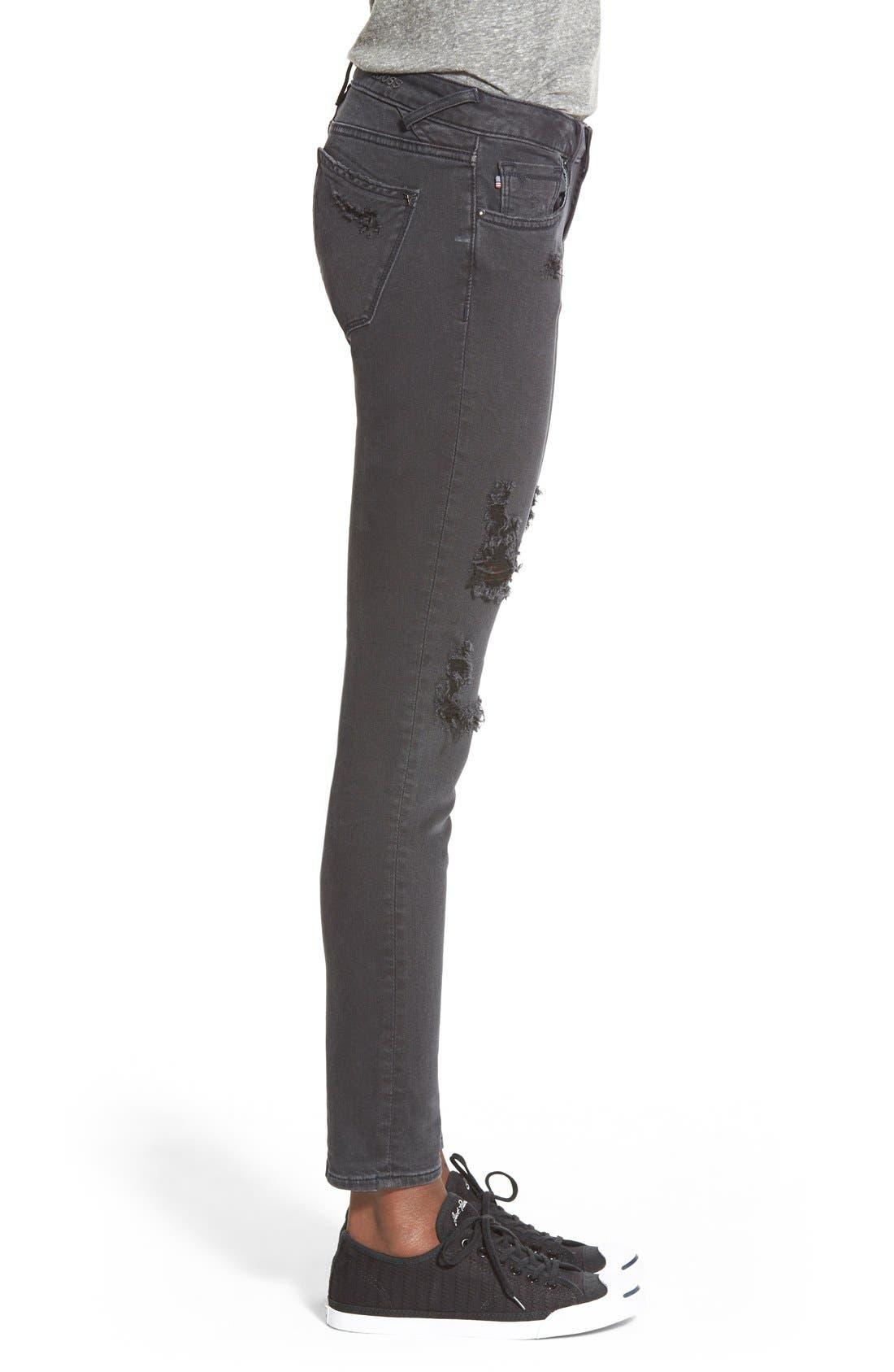 Alternate Image 3  - Vigoss 'Tomboy' Destroyed Jeans