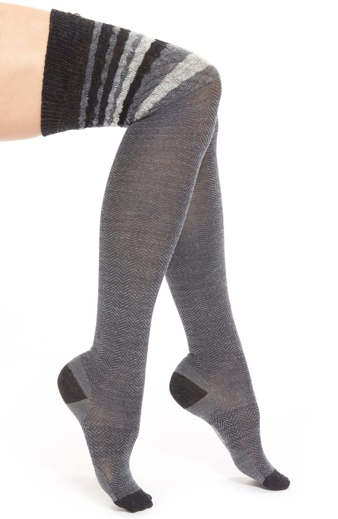 Alternate Image 1 Selected - Smartwool Chevron Stripe Over the Knee Socks