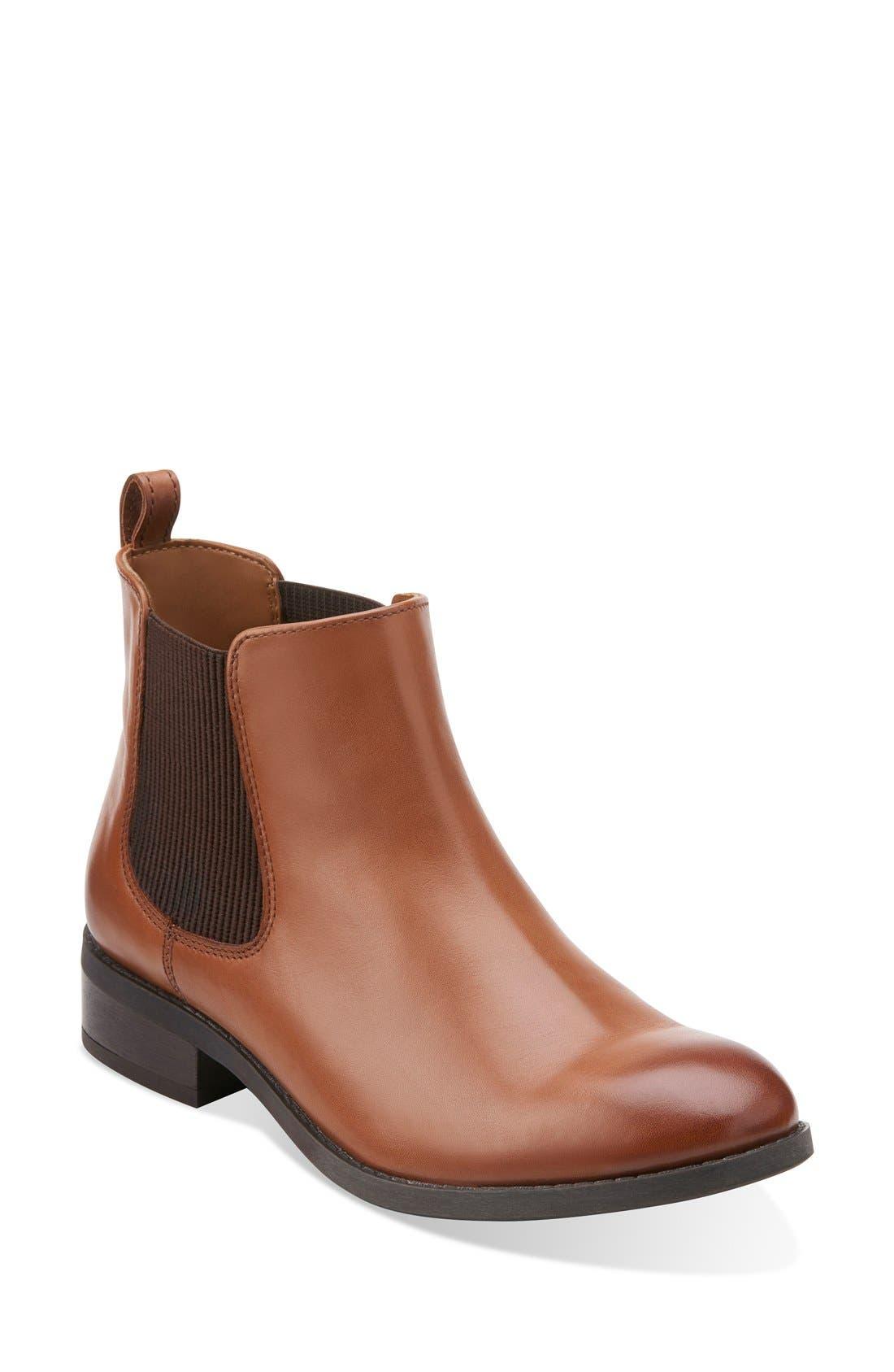 Alternate Image 1 Selected - Clarks® 'Pita Sedona' Chelsea Boot (Women)