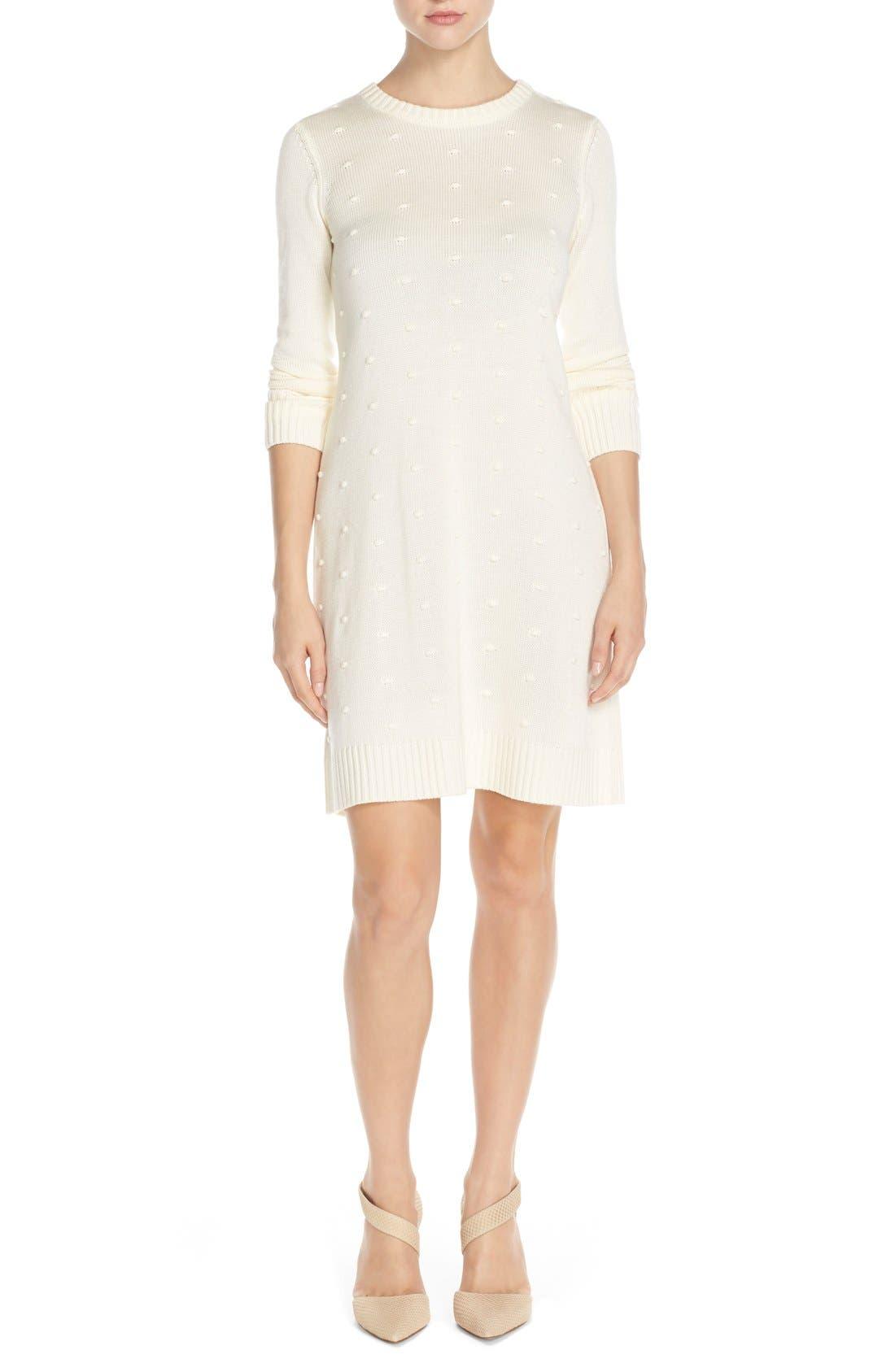 Alternate Image 4  - Eliza J NubbyKnit Shift Sweater Dress