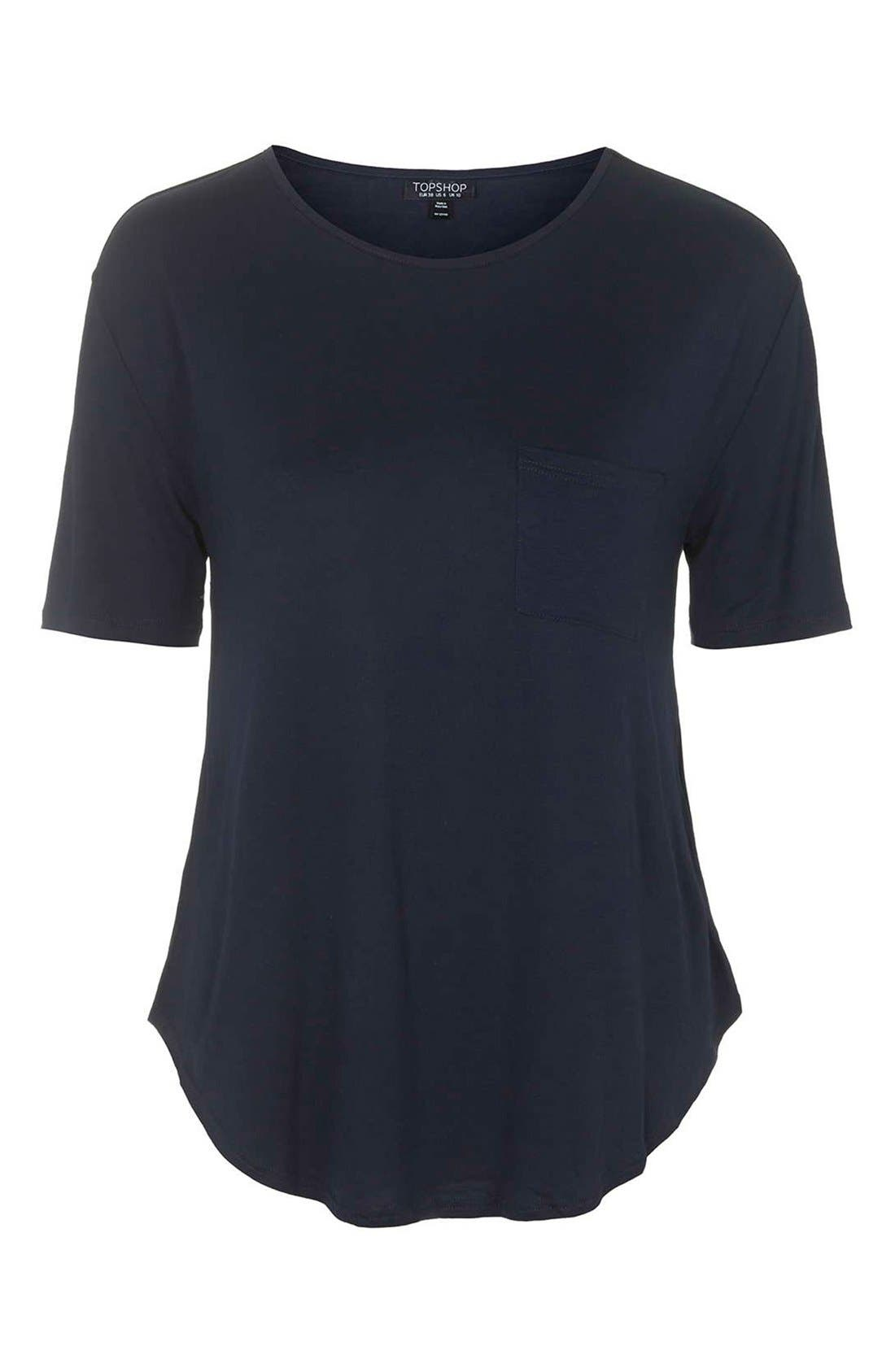 Alternate Image 4  - Topshop Pocket Tee