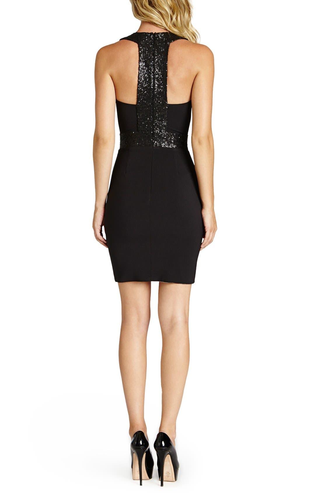 Alternate Image 2  - Dress the Population Rylee Sequin & Crepe Body-Con Dress