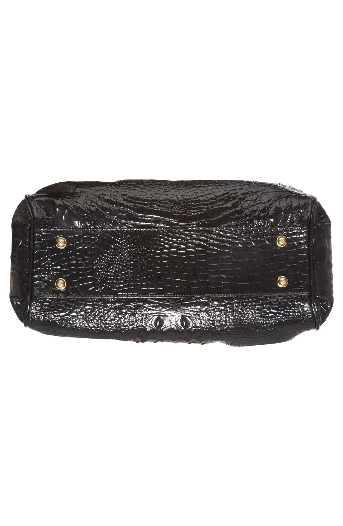 Alternate Image 6  - Brahmin Elisa Croc Embossed Leather Shoulder Bag