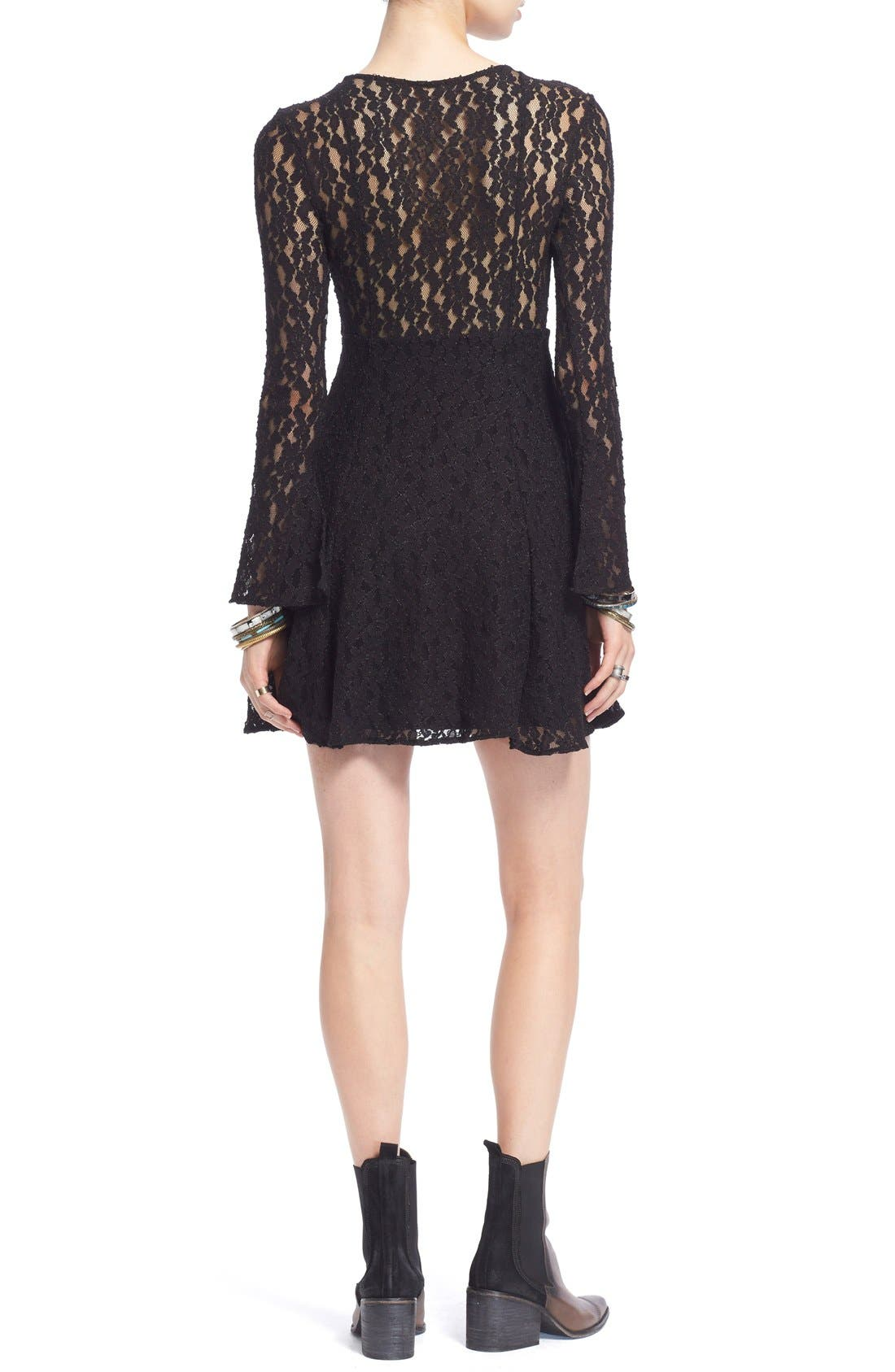 Alternate Image 2  - Free People Corded Lace Fit & Flare Dress