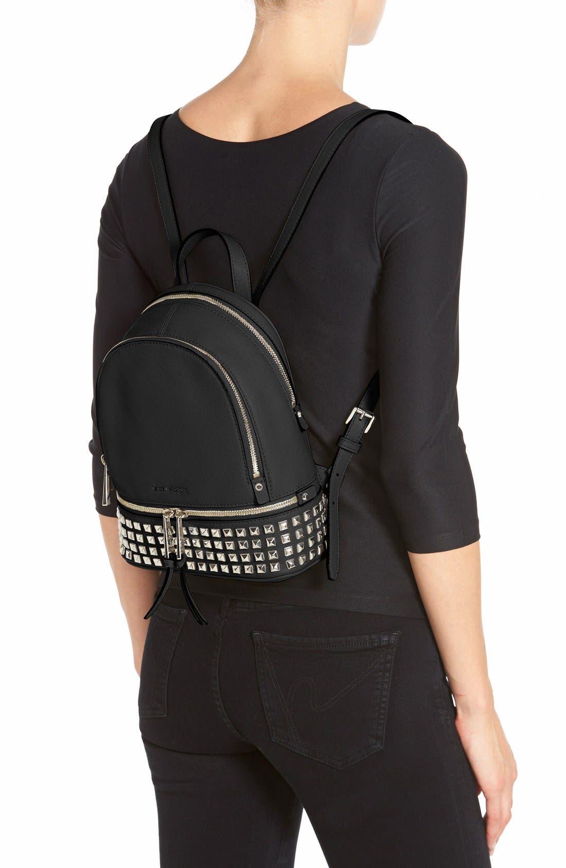 Alternate Image 2  - MICHAEL Michael Kors 'Small Rhea Zip' Studded Backpack