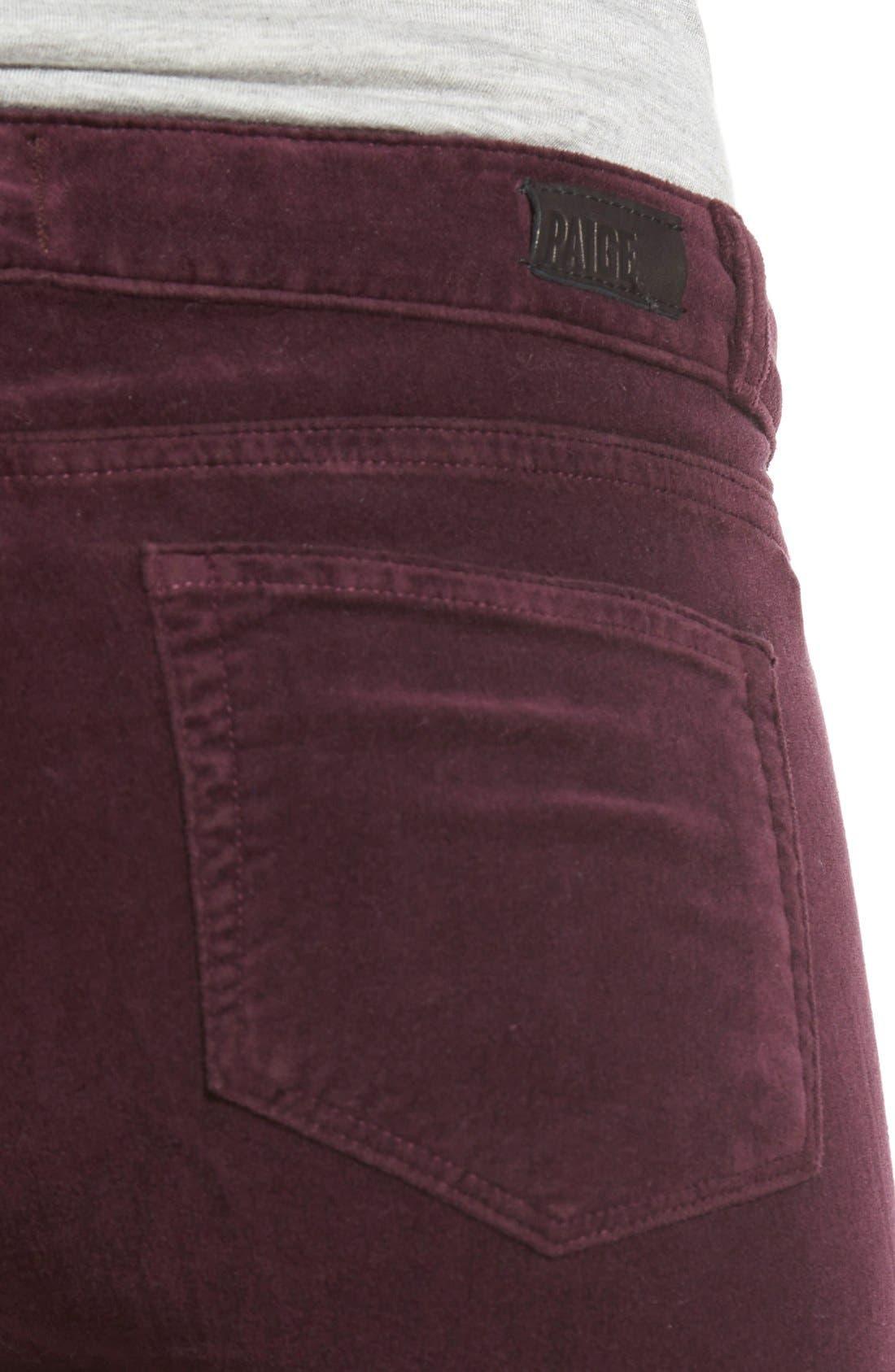 Alternate Image 5  - Paige Denim 'Verdugo' Velvet Ultra Skinny Jeans (Juliet)
