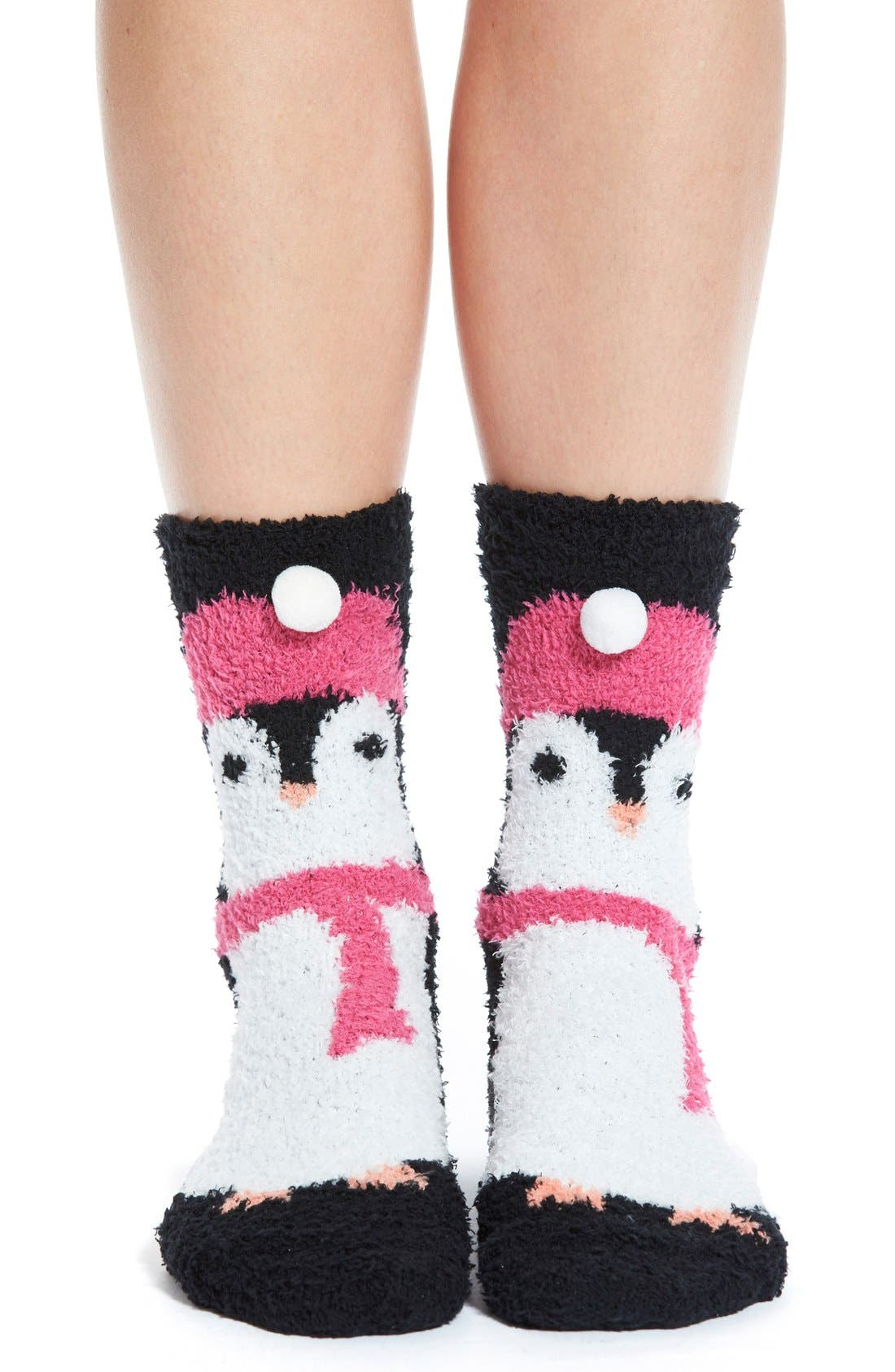 Main Image - PJ Salvage 'Cozy Plush Penguin' Socks