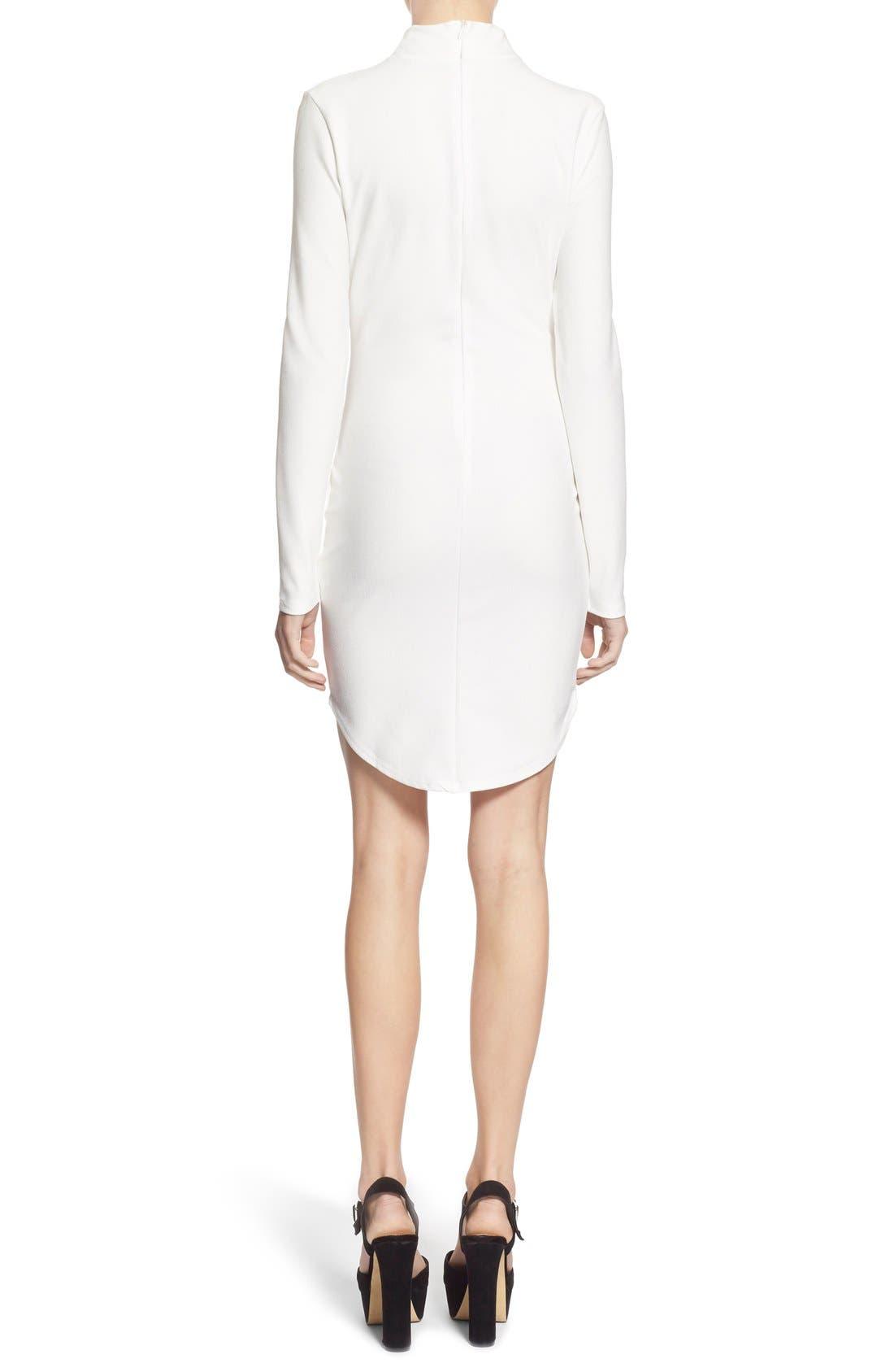 Alternate Image 2  - MissguidedMock NeckSheath Dress