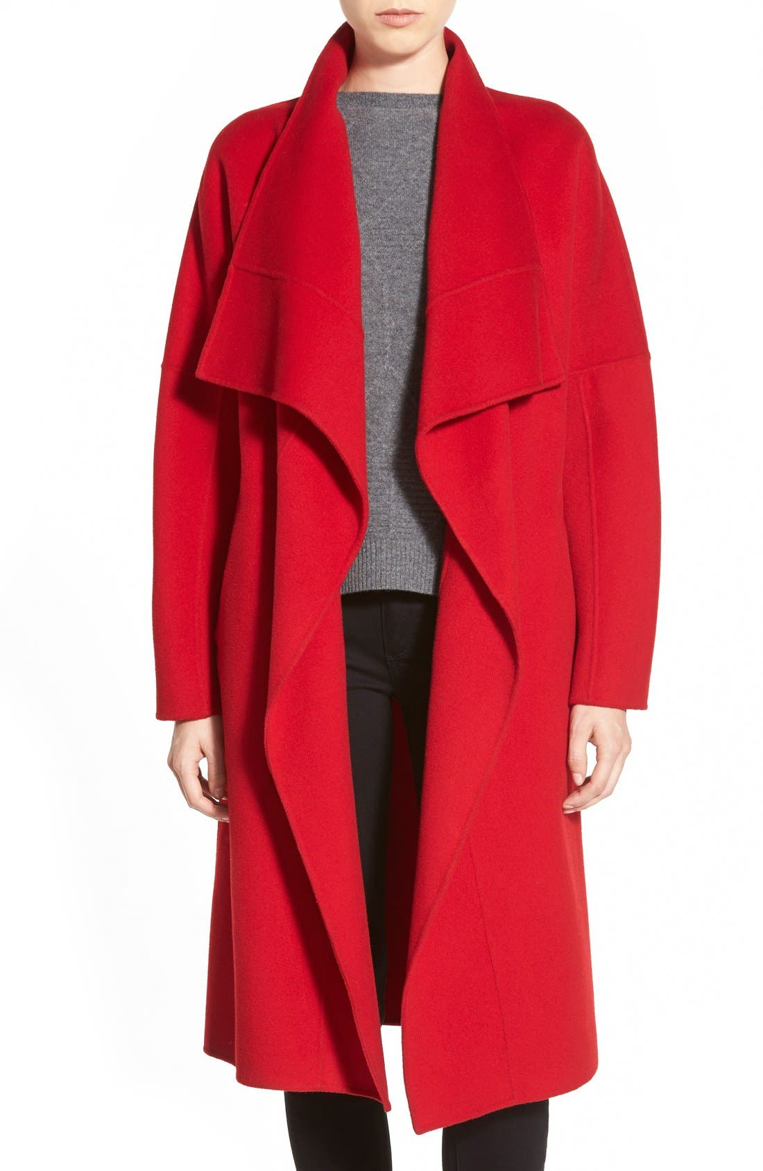 Main Image - Badgley Mischka 'Audrey' Long Double Face Wrap Coat