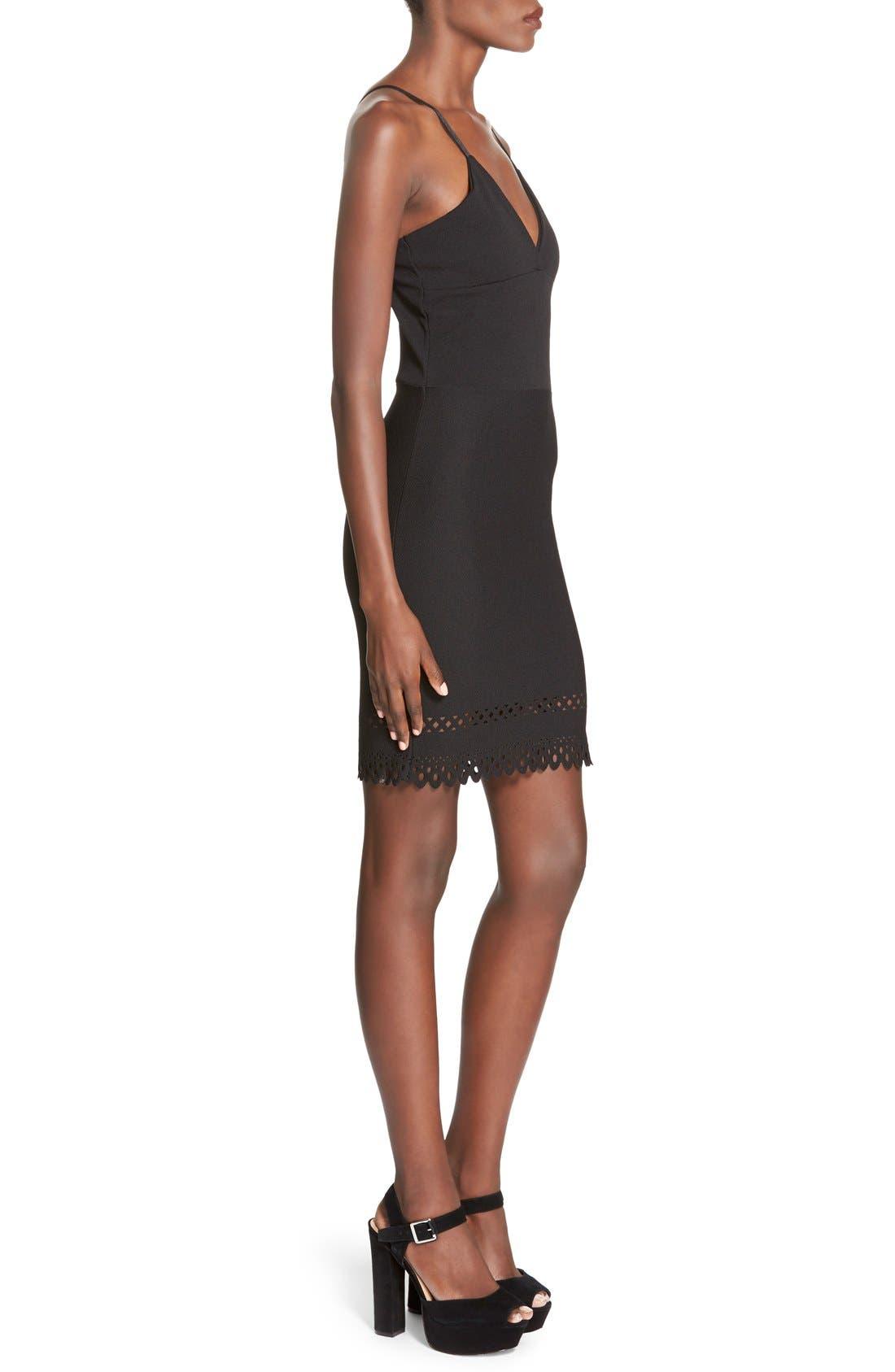Alternate Image 3  - MissguidedLaser Cut Hem Body-Con Dress