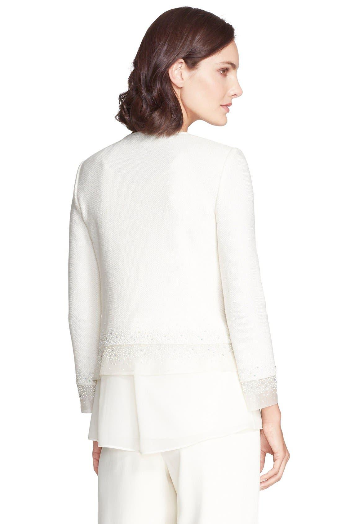 Alternate Image 2  - St. John Collection Sequin Embellished Bouclé Knit Jacket